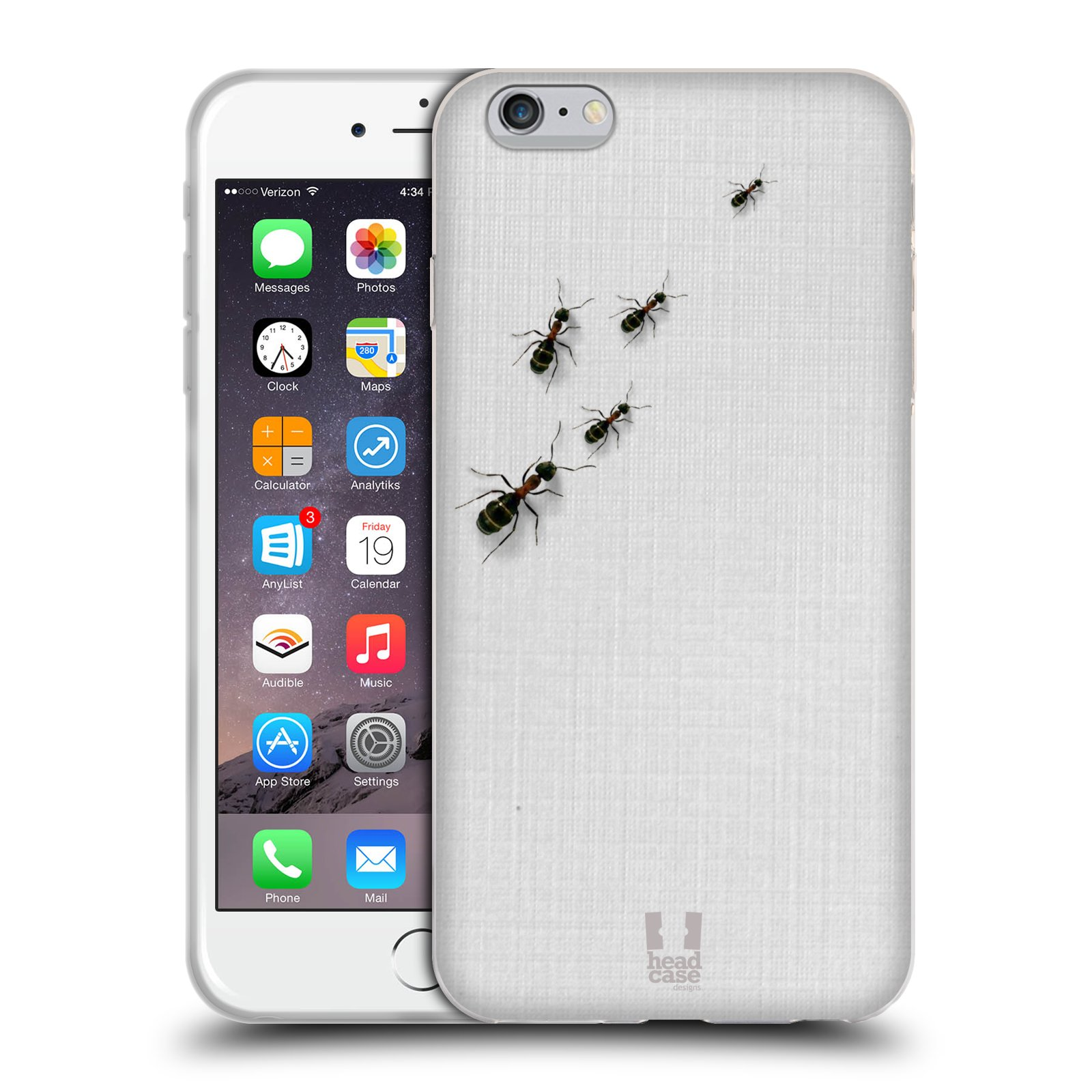 HEAD CASE silikonový obal na mobil Apple Iphone 6 PLUS/ 6S PLUS vzor maskování mravenci