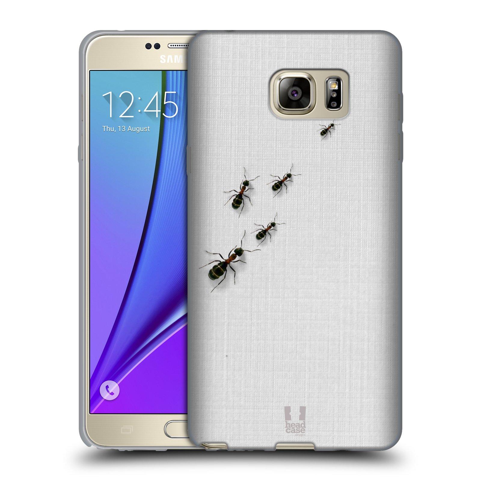 HEAD CASE silikonový obal na mobil Samsung Galaxy Note 5 (N920) vzor maskování mravenci