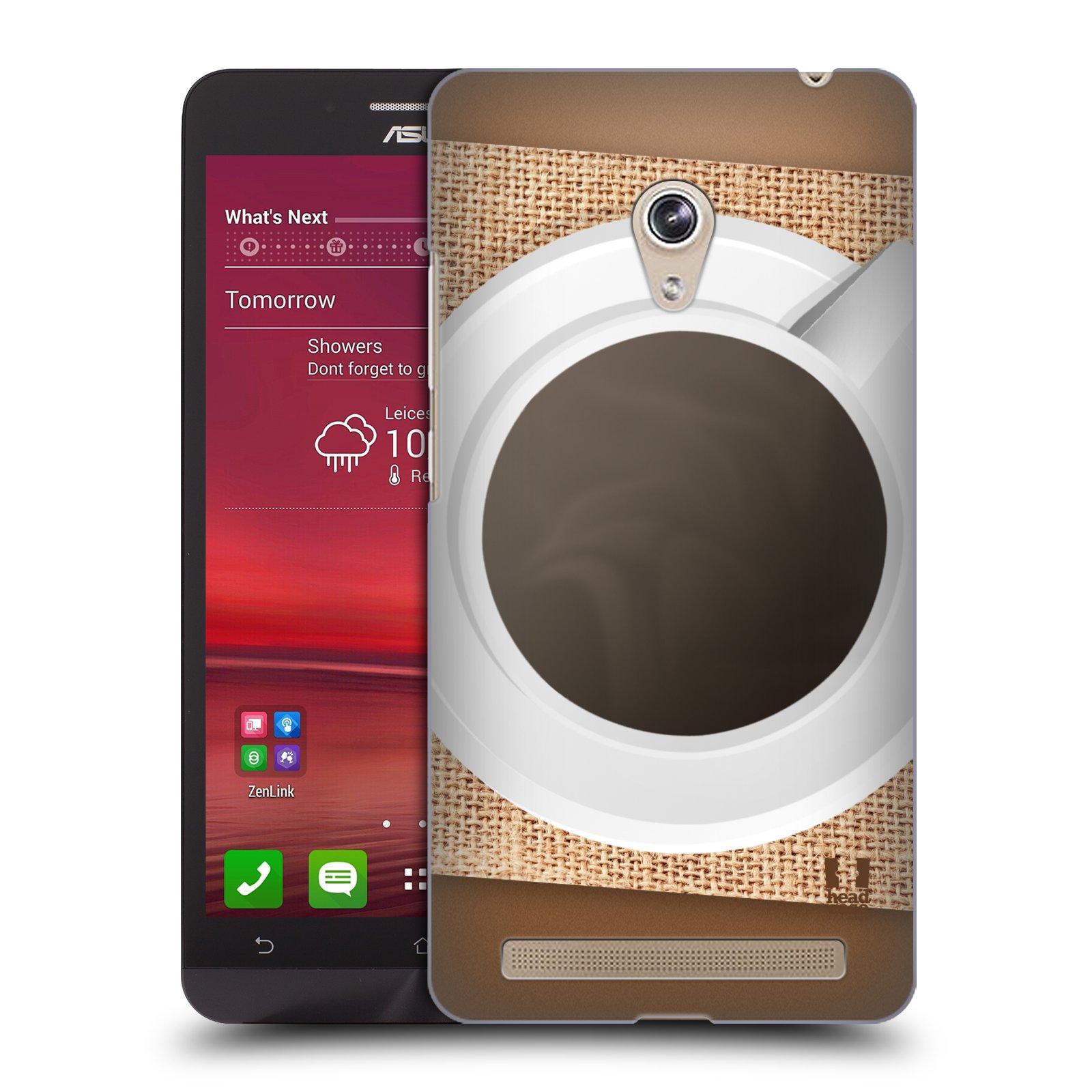 HEAD CASE plastový obal na mobil Asus Zenfone 6 vzor maskování kafe na stole