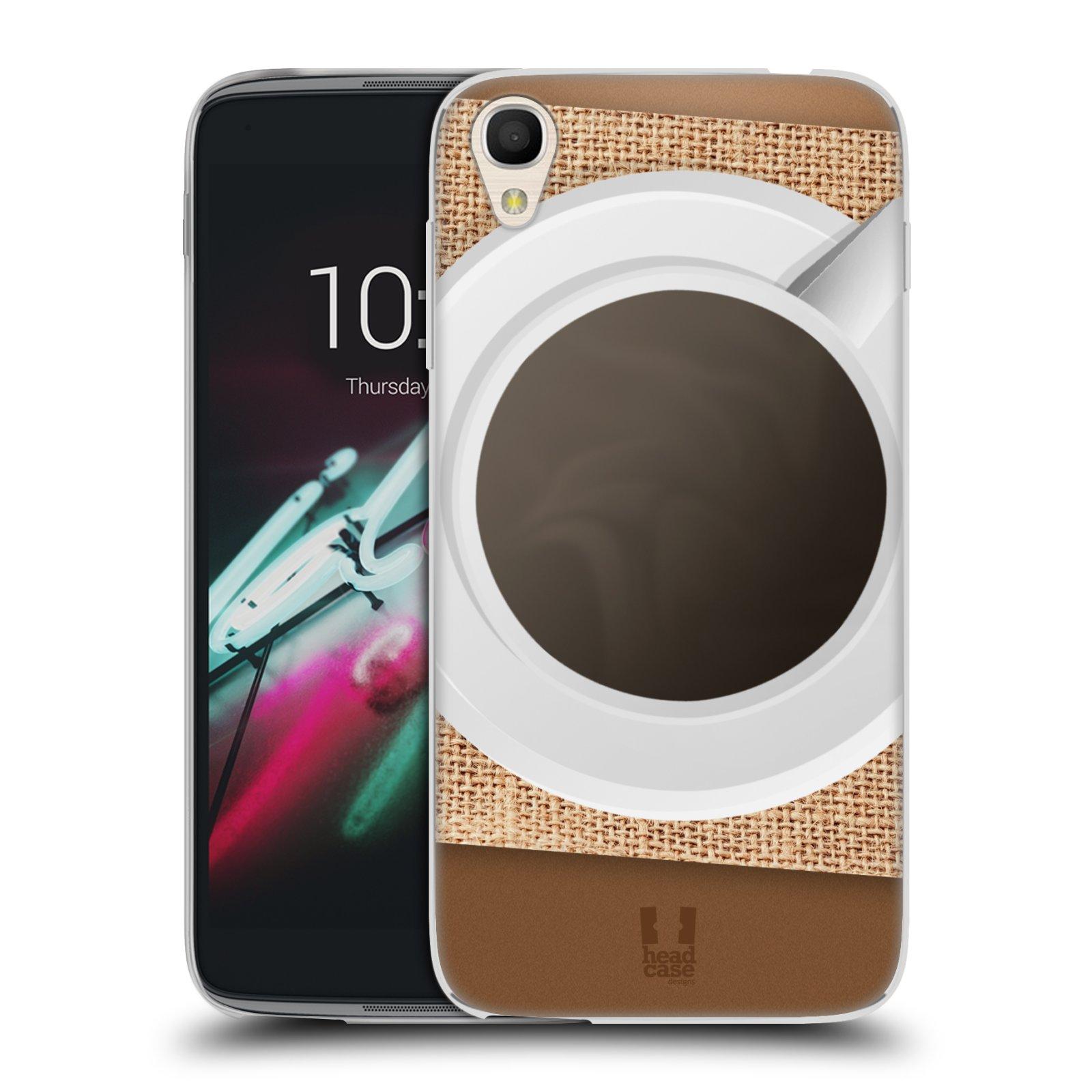 HEAD CASE silikonový obal na mobil Alcatel Idol 3 OT-6039Y (4.7) vzor maskování kafe na stole
