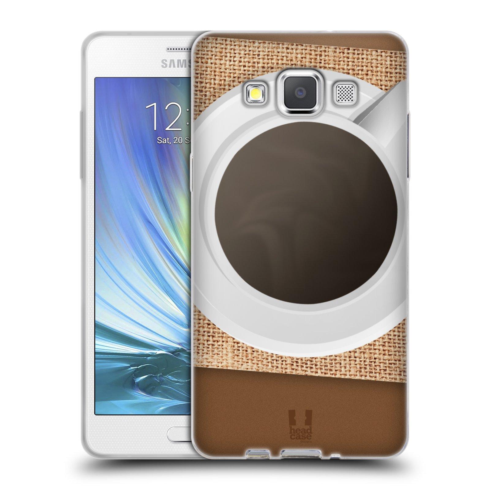 HEAD CASE silikonový obal na mobil Samsung Galaxy A5 vzor maskování kafe na stole