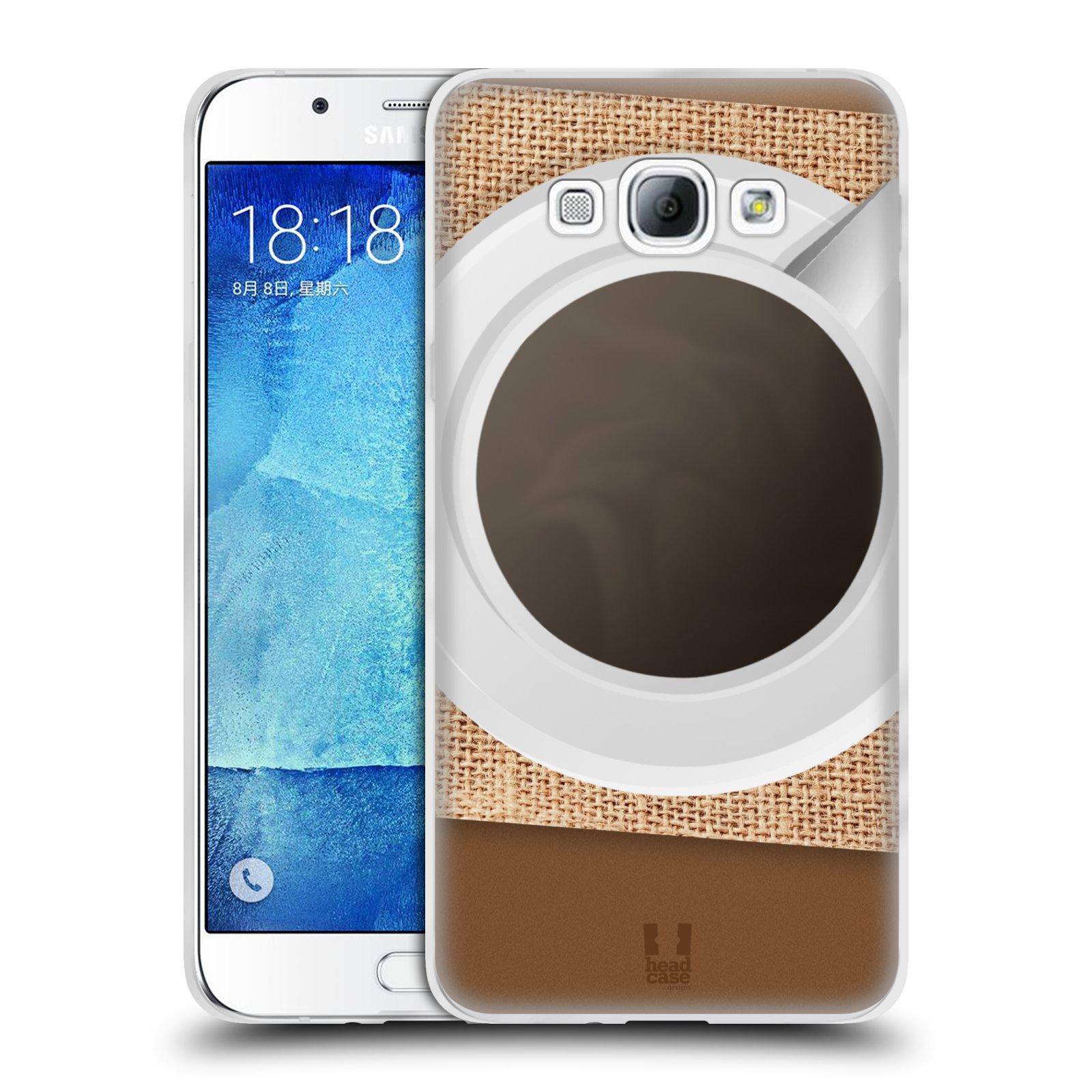 HEAD CASE silikonový obal na mobil Samsung Galaxy A8 vzor maskování kafe na stole