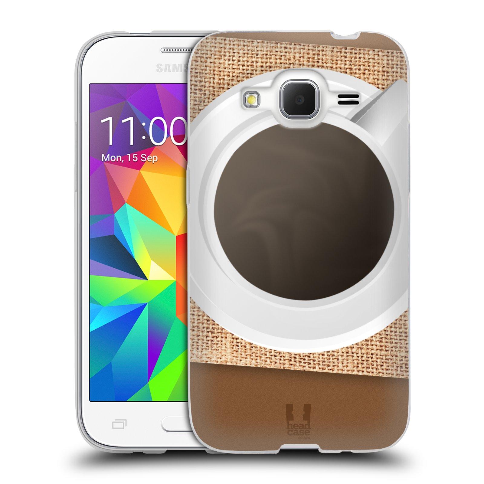 HEAD CASE silikonový obal na mobil Samsung Galaxy Core Prime (G360) vzor maskování kafe na stole