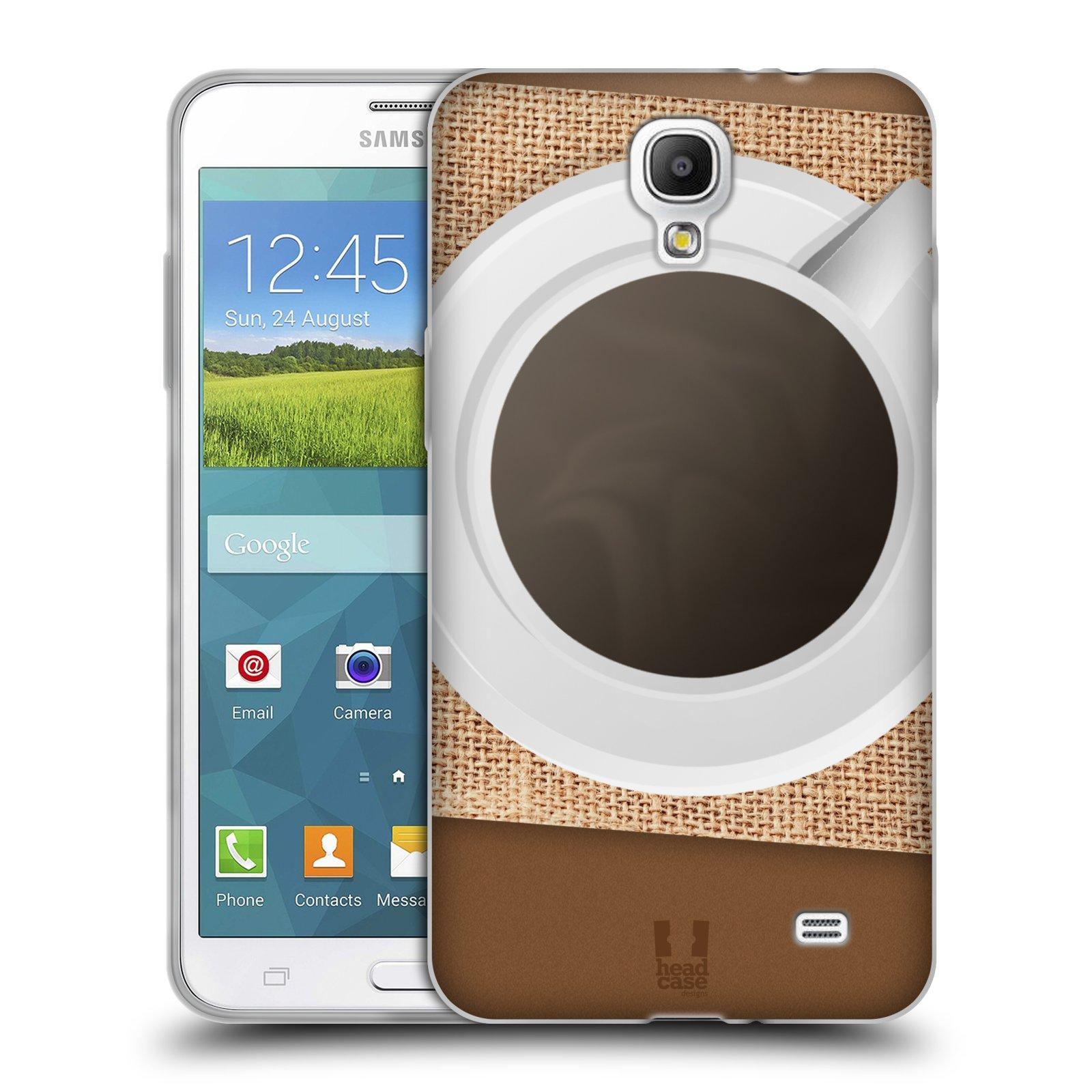 HEAD CASE silikonový obal na mobil Samsung Galaxy Mega 2 vzor maskování kafe na stole