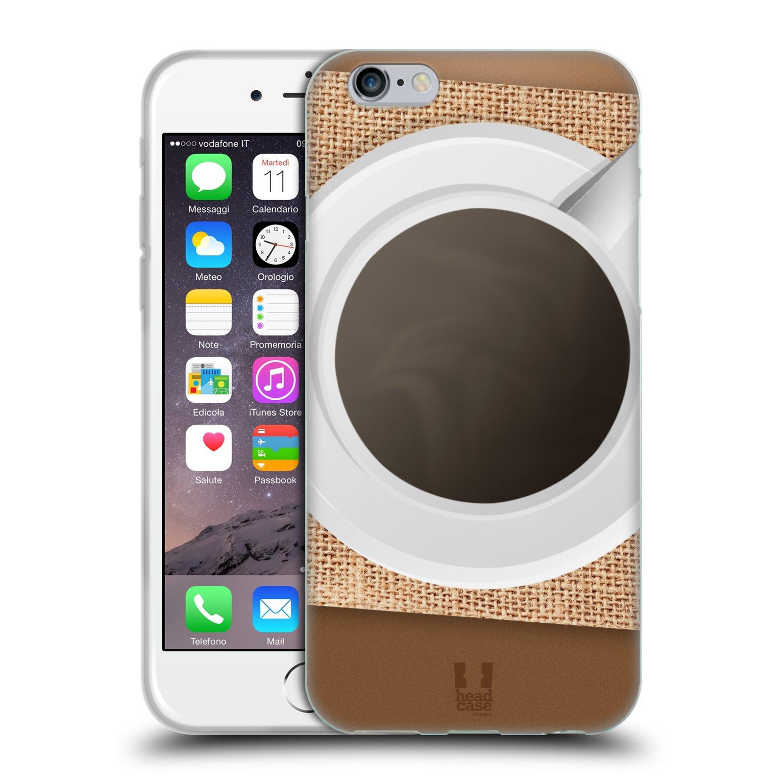HEAD CASE silikonový obal na mobil Apple Iphone 6/6S vzor maskování kafe na stole