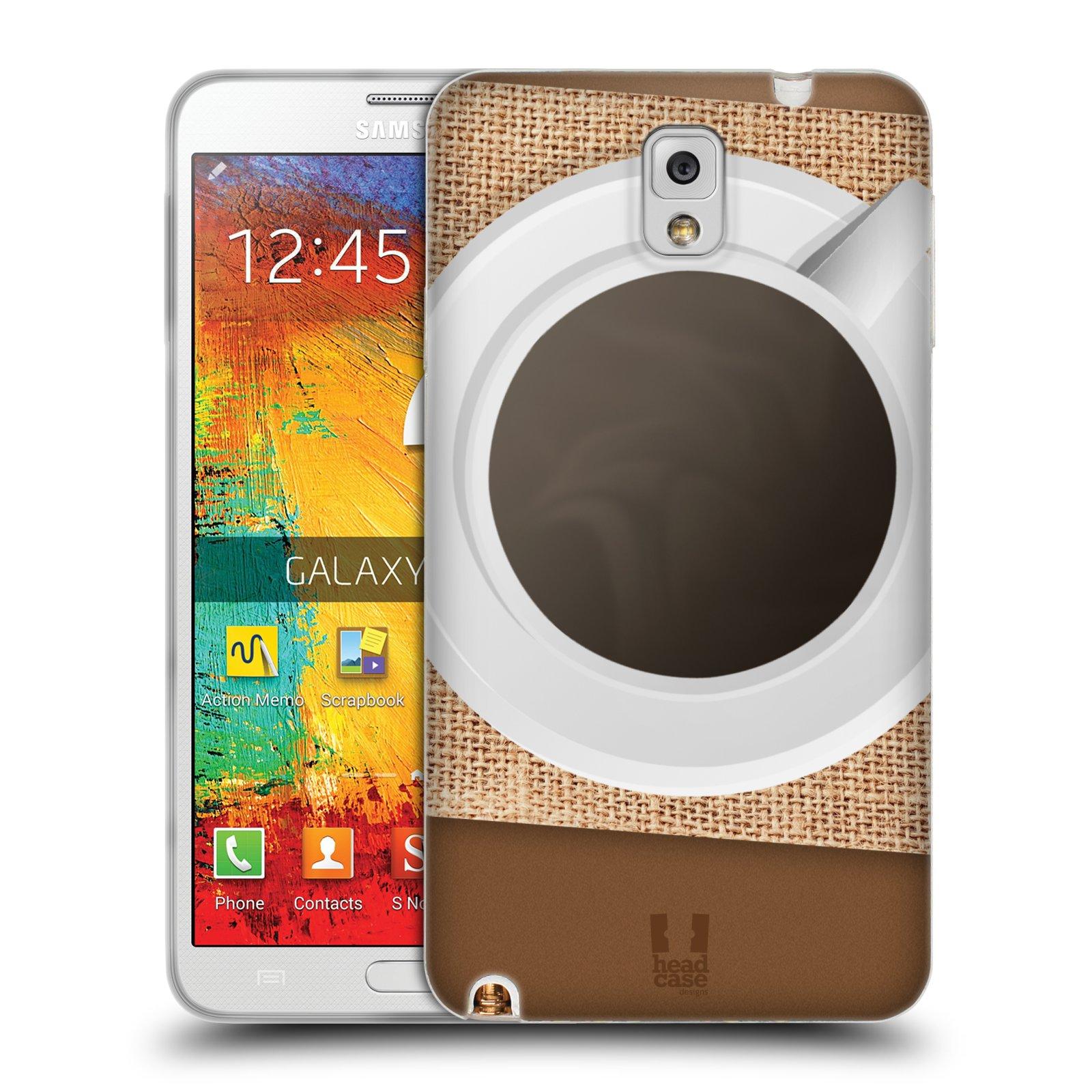 HEAD CASE silikonový obal na mobil Samsung Galaxy Note 3 (N9005) vzor maskování kafe na stole