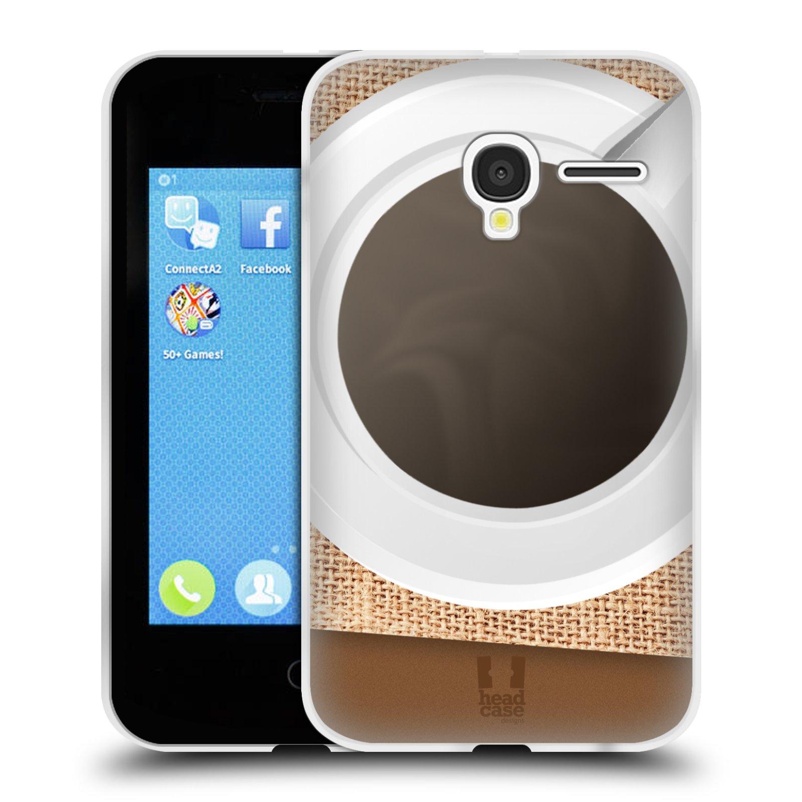 HEAD CASE silikonový obal na mobil Alcatel PIXI 3 OT-4022D (3,5 palcový displej) vzor maskování kafe na stole