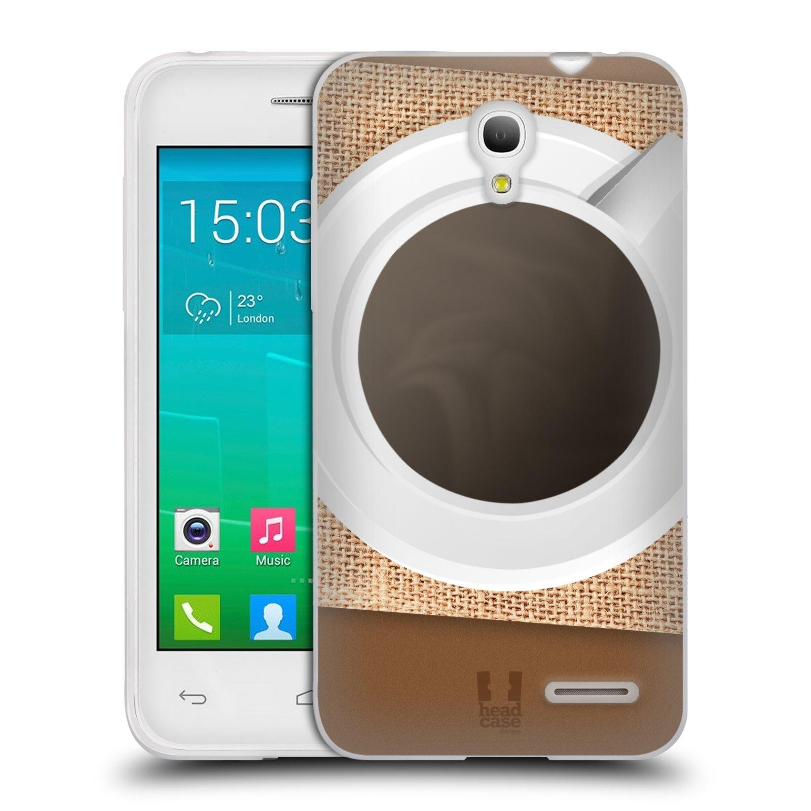 HEAD CASE silikonový obal na mobil Alcatel POP S3 OT-5050Y vzor maskování kafe na stole