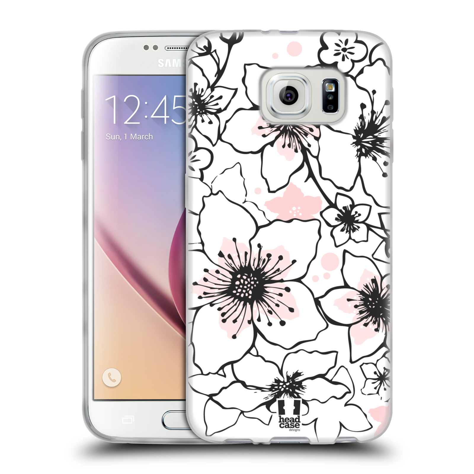 HEAD CASE DESIGNS CHERRY BLOSSOMS SOFT GEL CASE FOR SAMSUNG PHONES 1