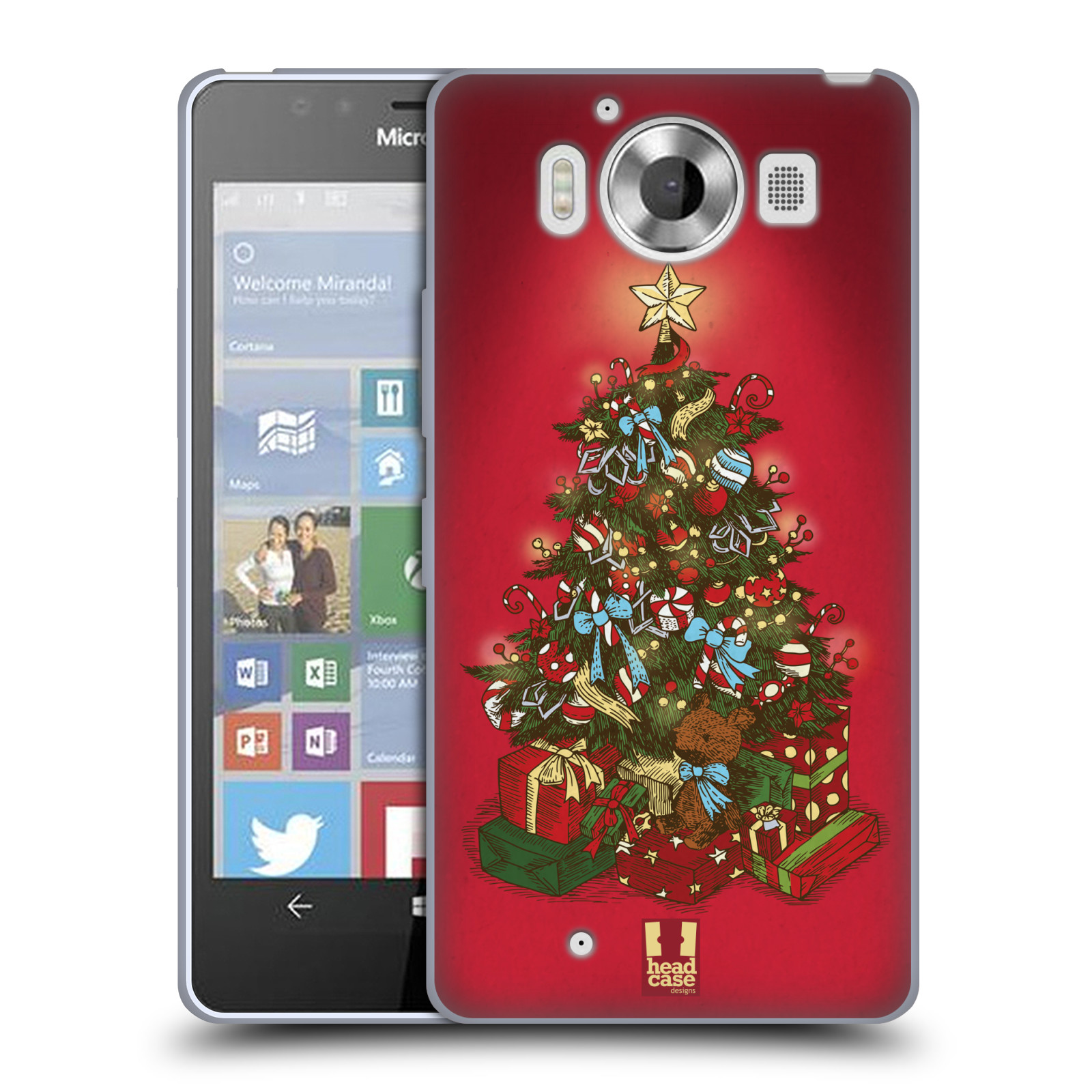 HEAD CASE DESIGNS CHRISTMAS ESSENTIALS SOFT GEL CASE FOR MICROSOFT LUMIA 950