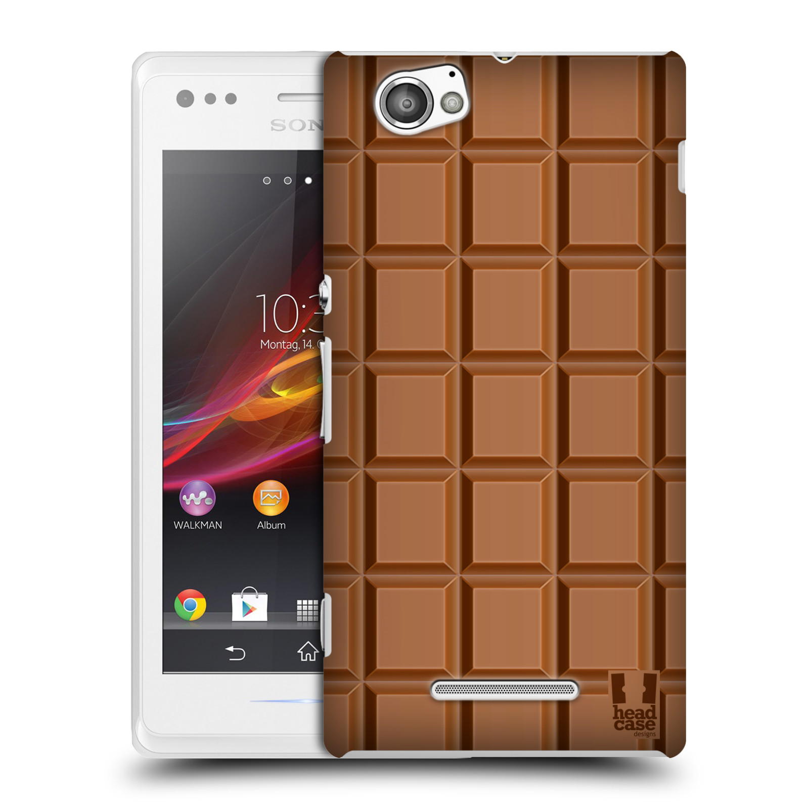 HEAD CASE DESIGNS CHOCOLATY CASE COVER FOR SONY XPERIA M C1905 C1904