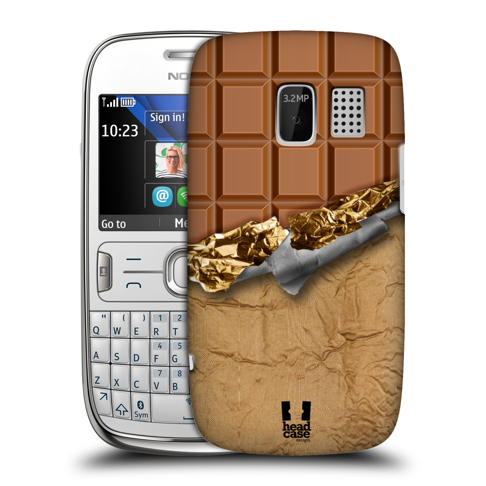 HEAD CASE DESIGNS CHOCOLATY CASE COVER FOR NOKIA ASHA 302