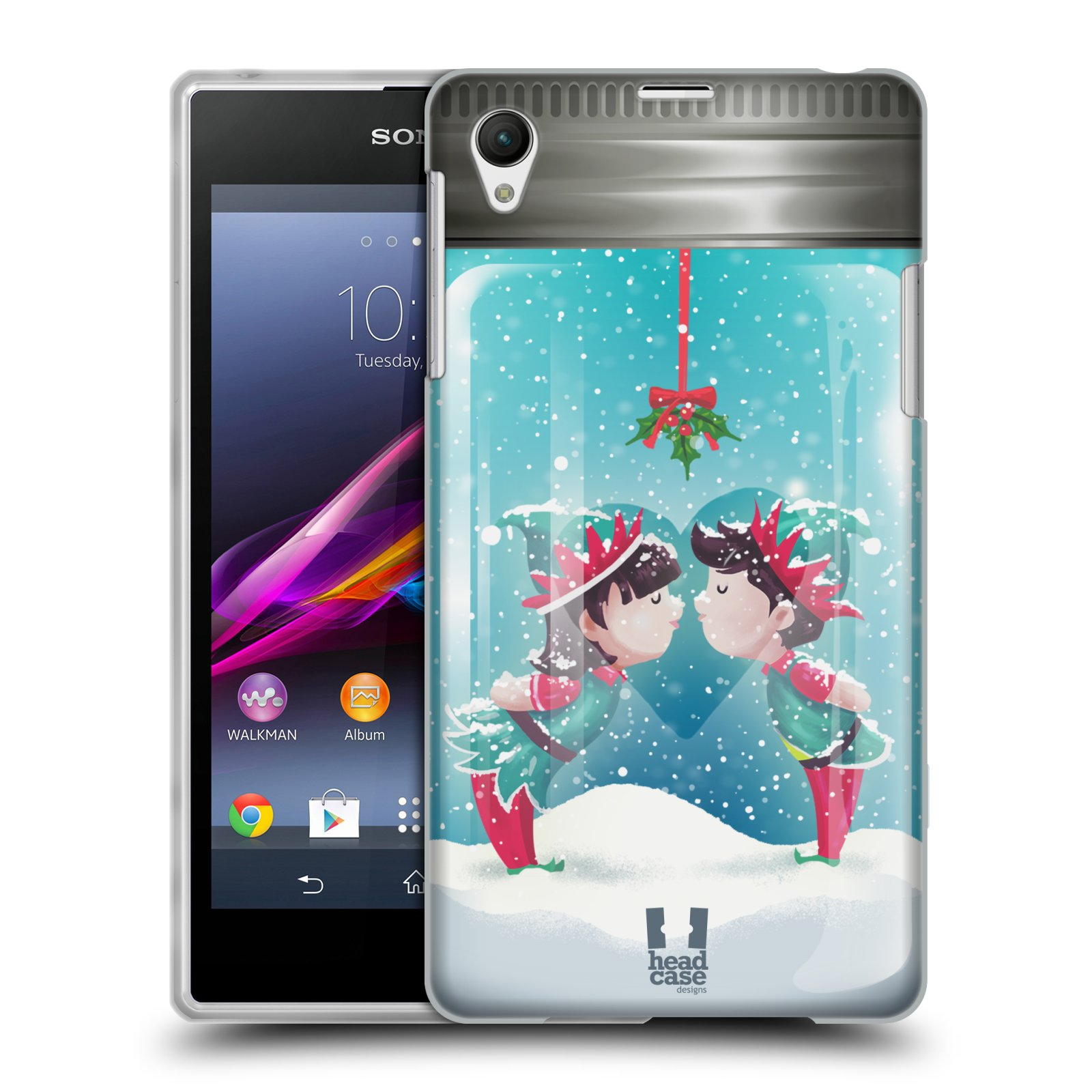 HEAD CASE CHRISTMAS IN JARS GEL BACK CASE COVER FOR SONY XPERIA Z1 C6902