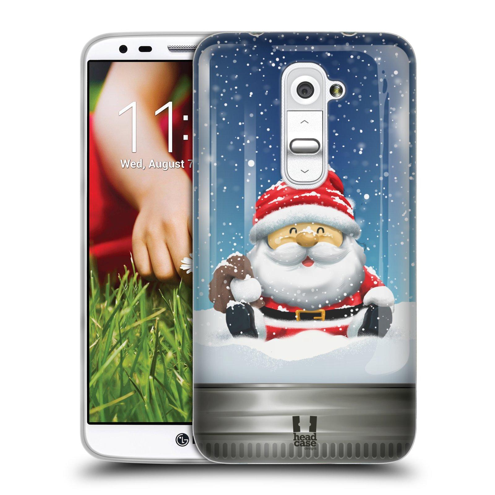 HEAD CASE CHRISTMAS IN JARS GEL BACK CASE COVER FOR LG G2 D802