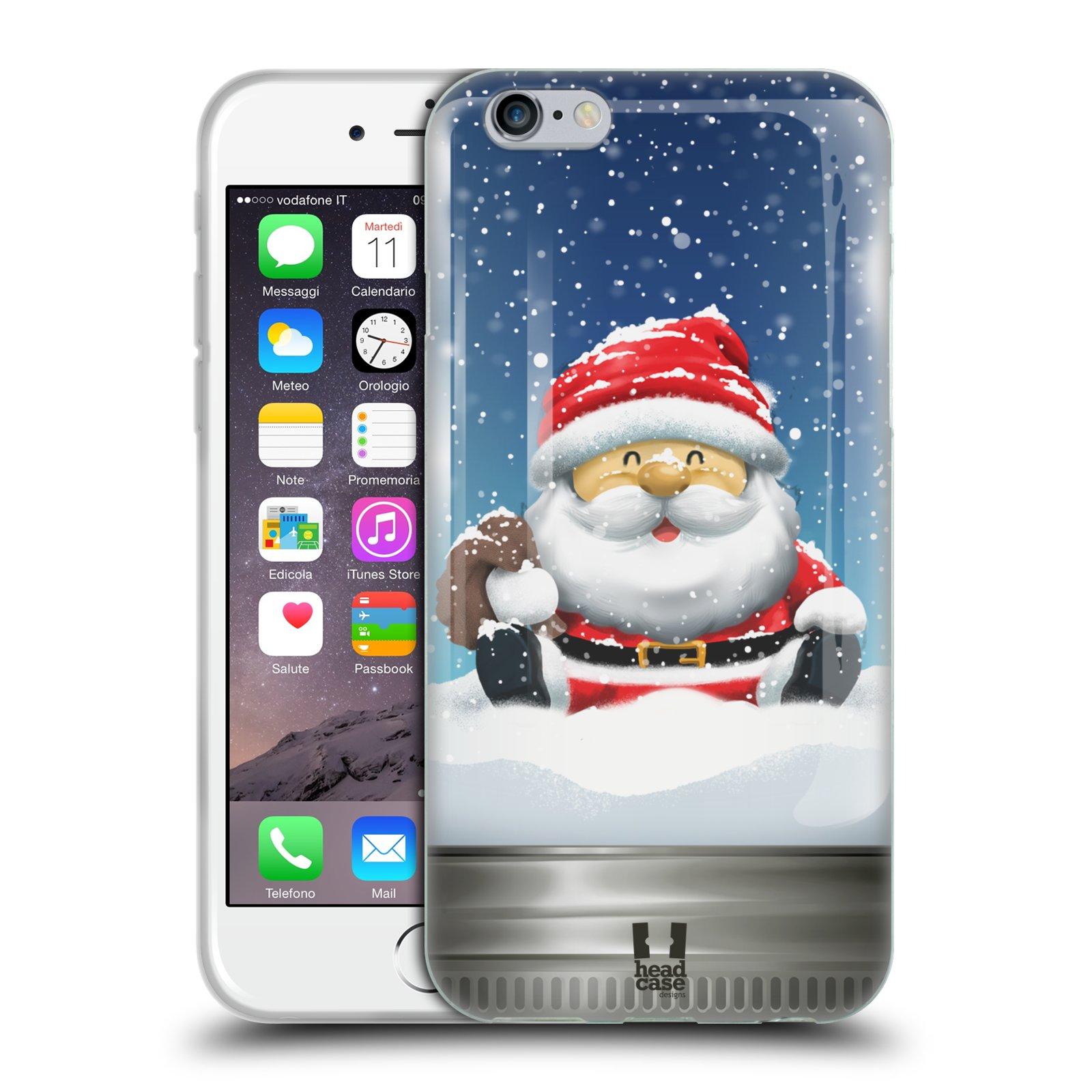 HEAD CASE silikonový obal na mobil Apple Iphone 6/6S vzor Vánoce v těžítku SANTA