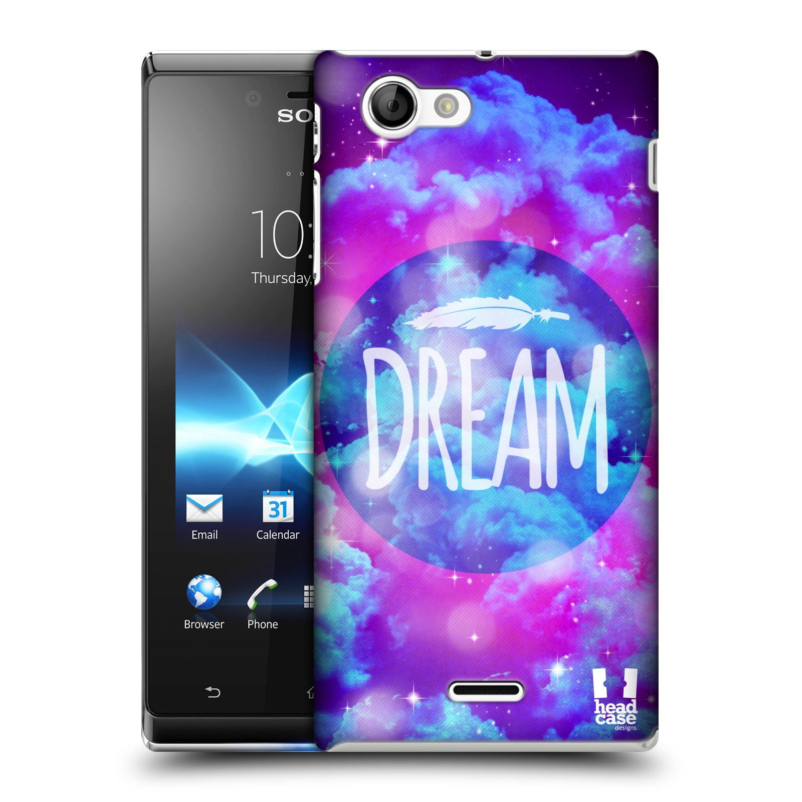 HEAD CASE CHROMATIC CLOUDS SNAP-ON BACK COVER FOR SONY XPERIA J ST26i