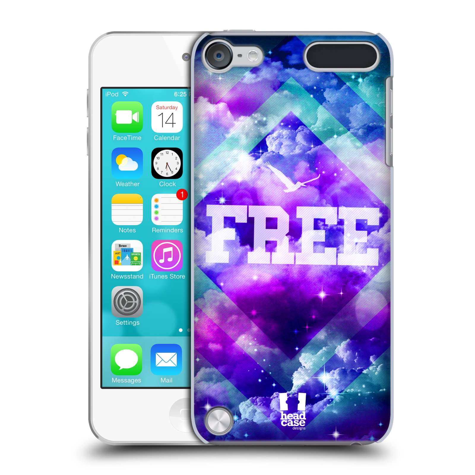 HEAD CASE DESIGNS CHROMATIC CLOUDS CASE FOR APPLE iPOD TOUCH 5G 5TH GEN