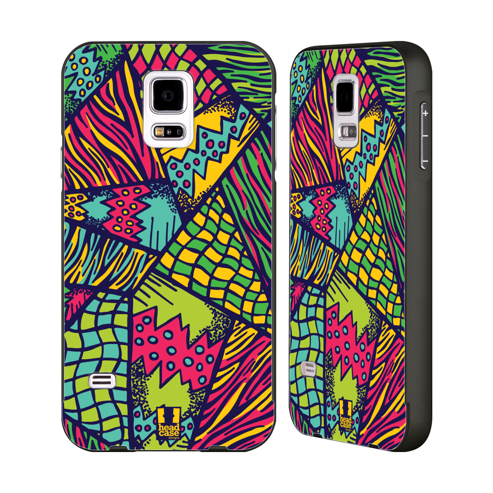 HEAD-CASE-DESIGNS-CHROMATIC-POP-BLACK-BUMPER-SLIDER-CASE-FOR-SAMSUNG-PHONES