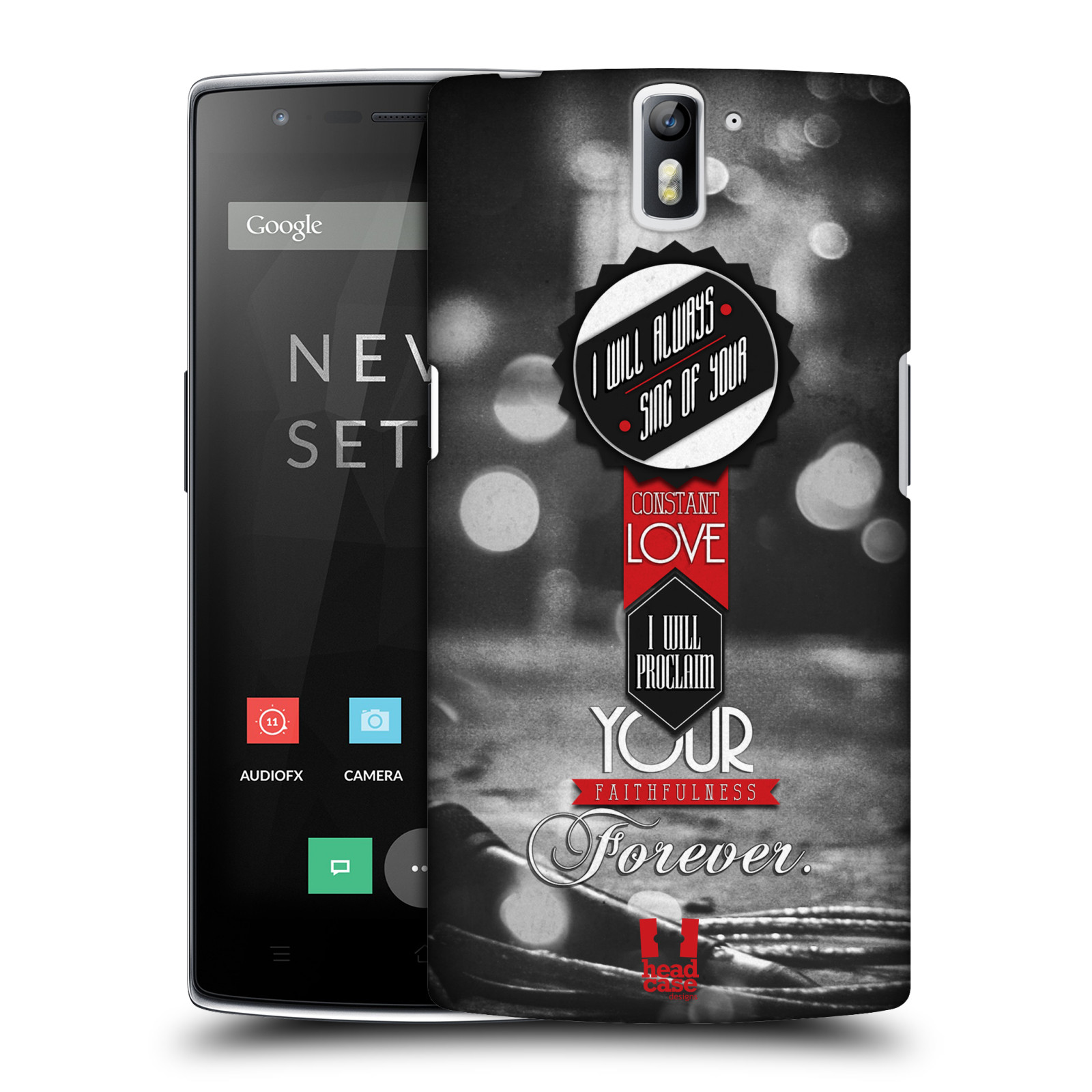 HEAD CASE DESIGNS CHRISTIAN TYPOGRAPHY SERIES 1 HARD BACK CASE FOR ONEPLUS ONE