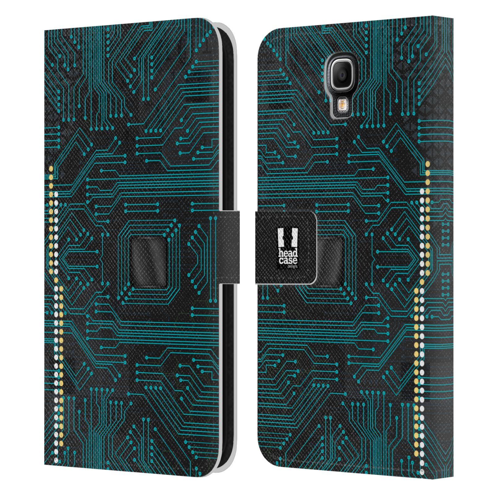 HEAD CASE Flipové pouzdro pro mobil Samsung Galaxy Note 3 NEO (N7505) počítač základní deska modrá barva