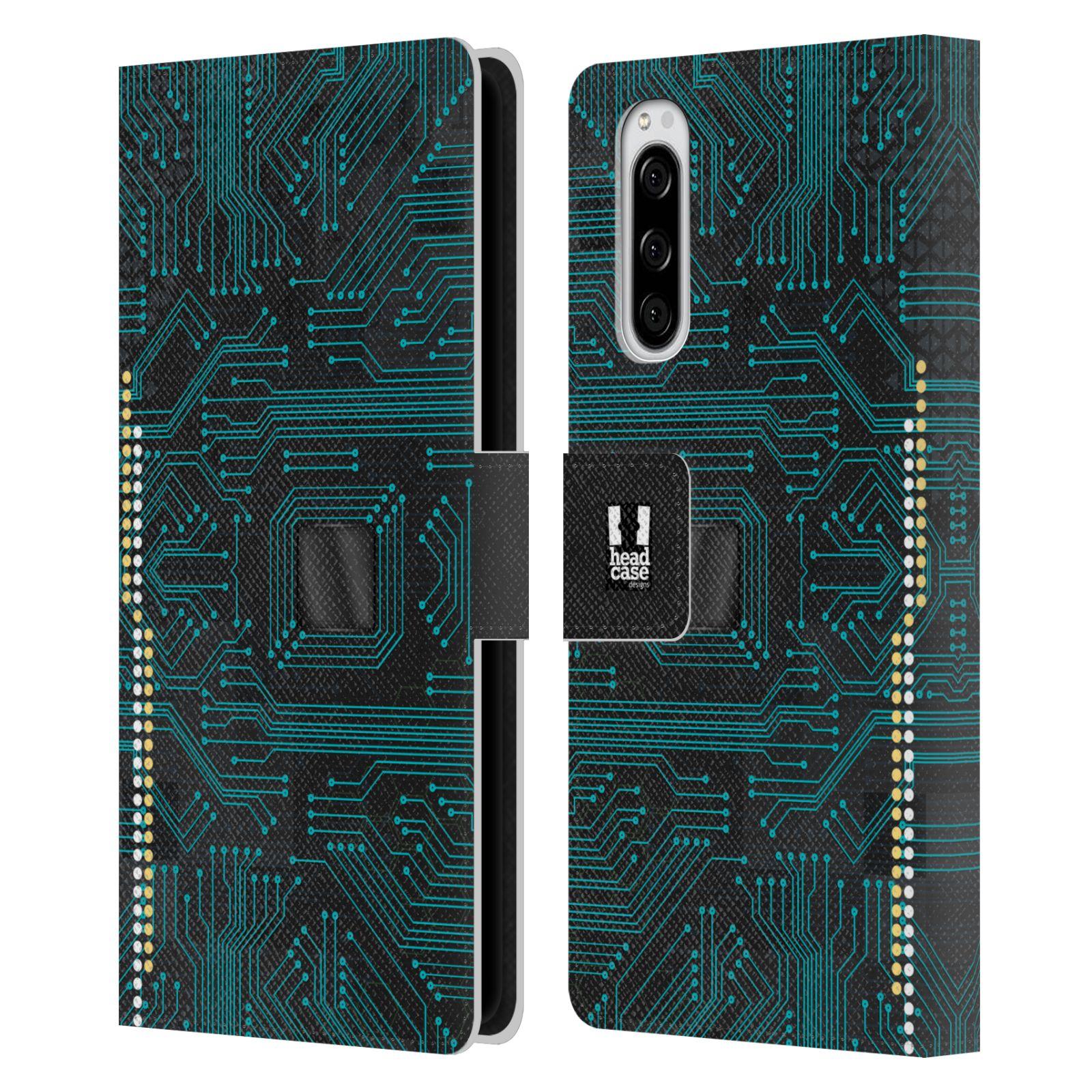 Pouzdro na mobil Sony Xperia 5 počítač základní deska modrá barva