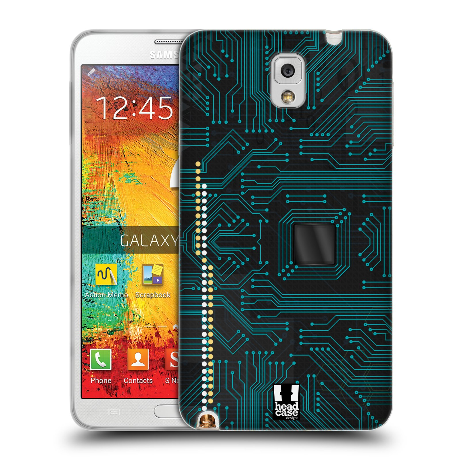 HEAD CASE CIRCUIT BOARDS TPU GEL BACK CASE COVER FOR SAMSUNG GALAXY NOTE 3 N9005