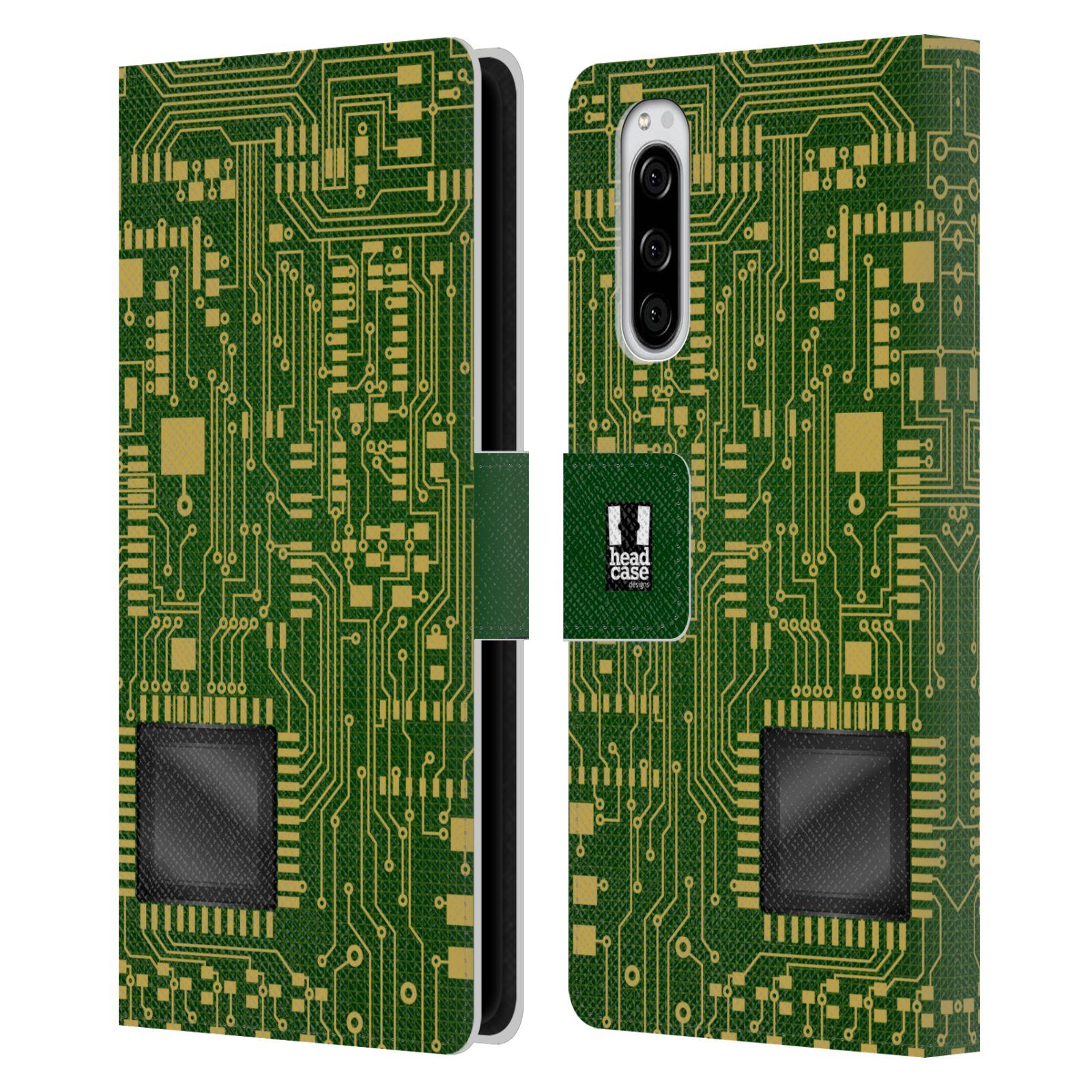 Pouzdro na mobil Sony Xperia 5 počítač základní deska zelená barva velký čip