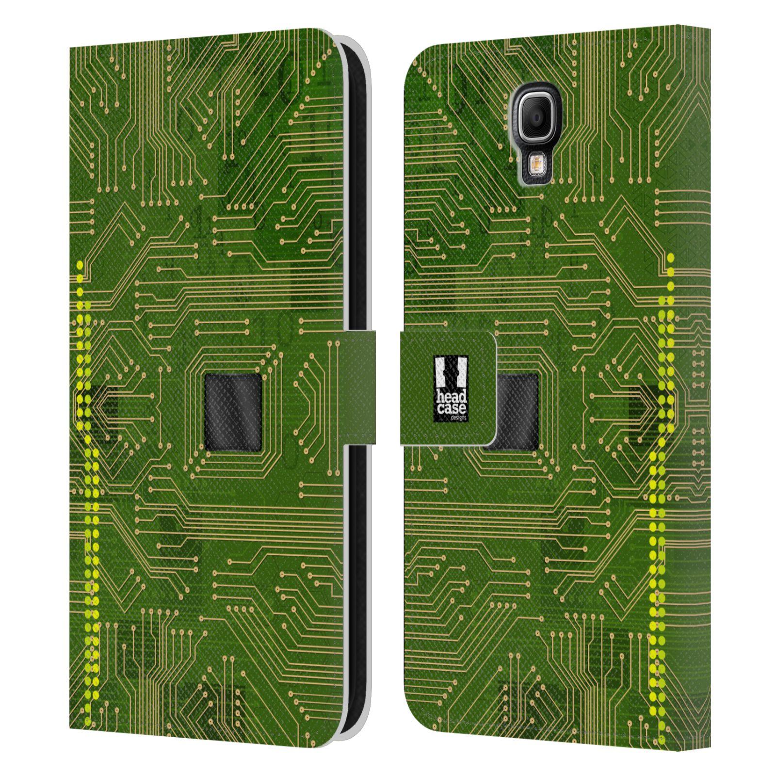 HEAD CASE Flipové pouzdro pro mobil Samsung Galaxy Note 3 NEO (N7505) počítač základní deska zelená barva