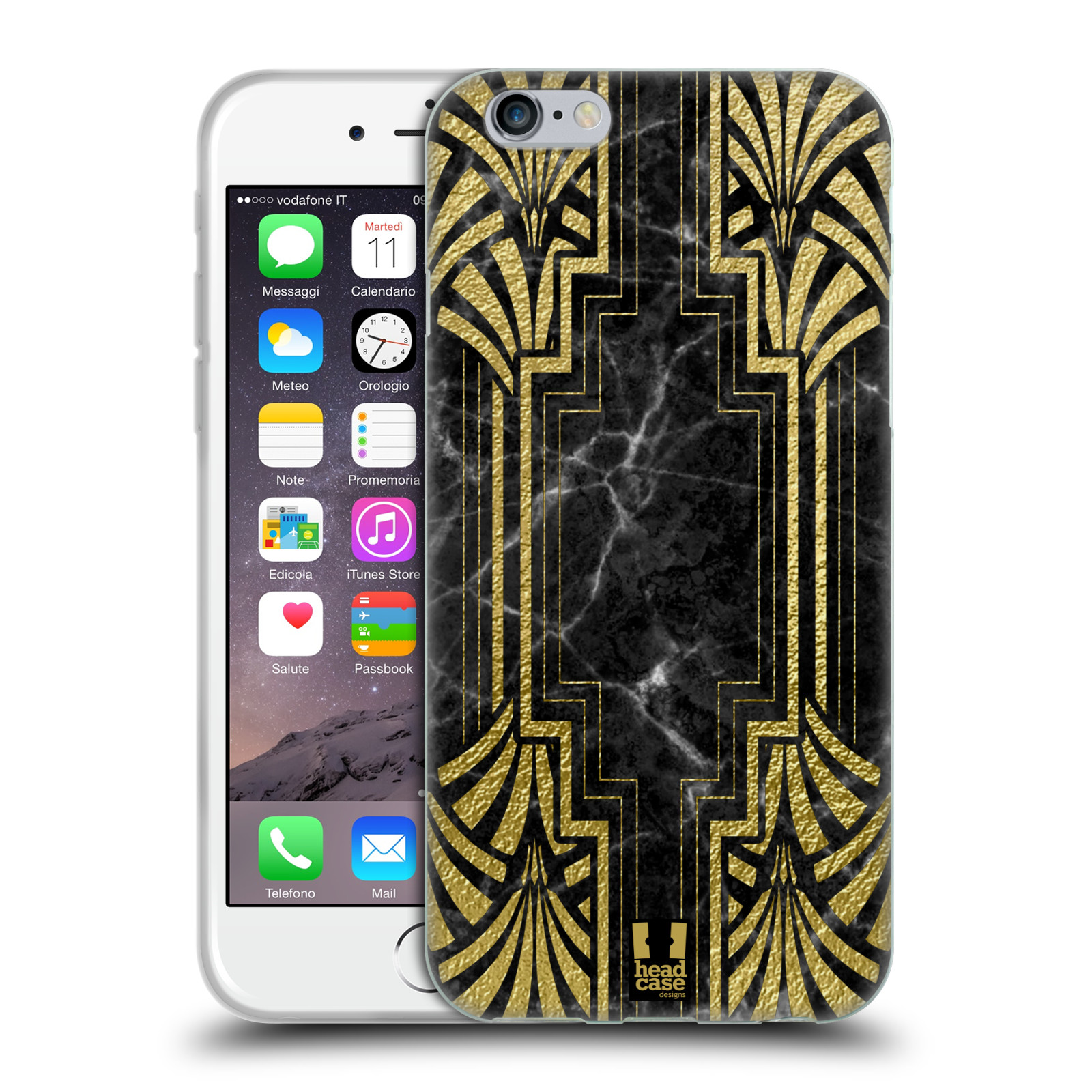 head case designs classic art deco soft gel case for apple. Black Bedroom Furniture Sets. Home Design Ideas