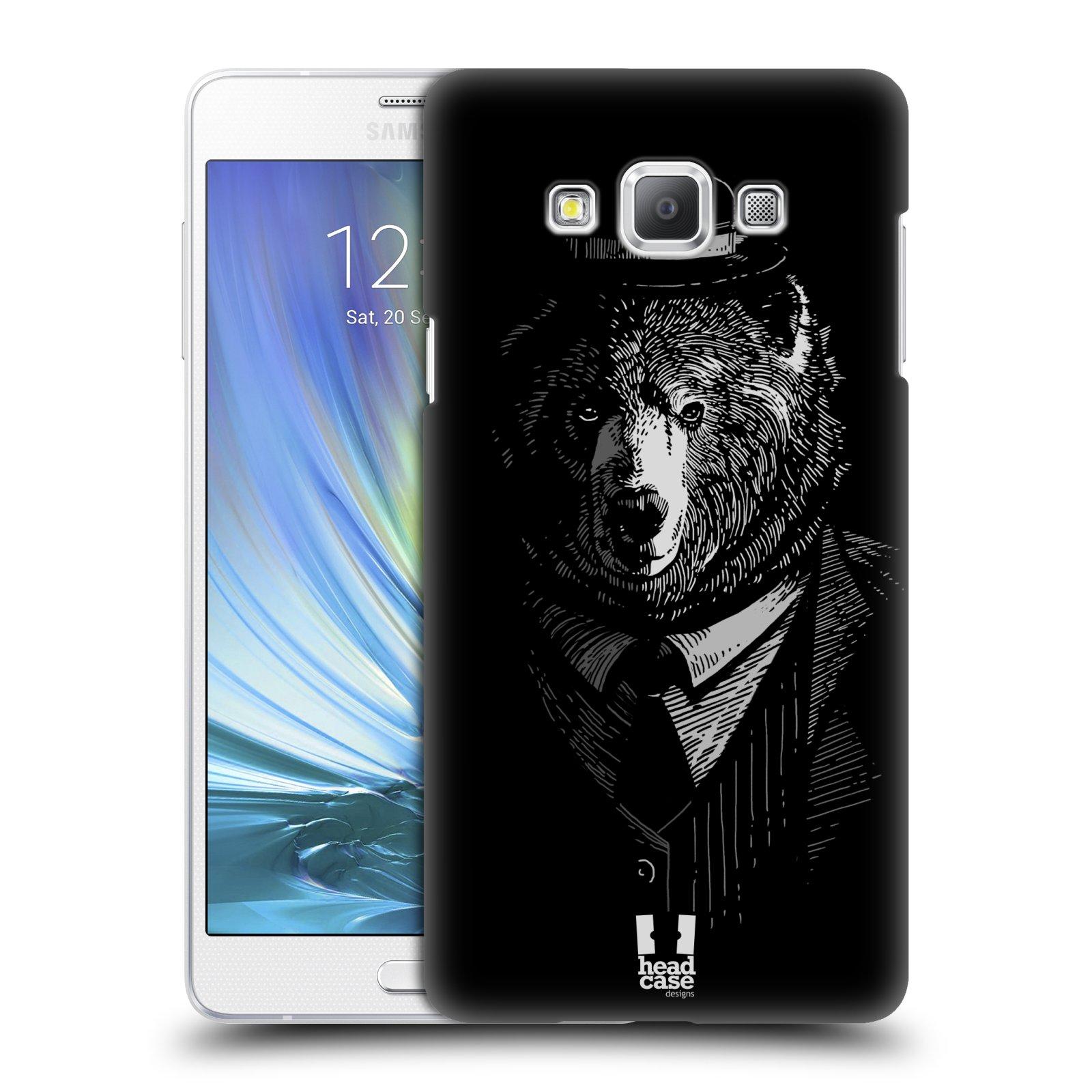 HEAD CASE plastový obal na mobil SAMSUNG GALAXY A7 vzor Zvíře v obleku medvěd