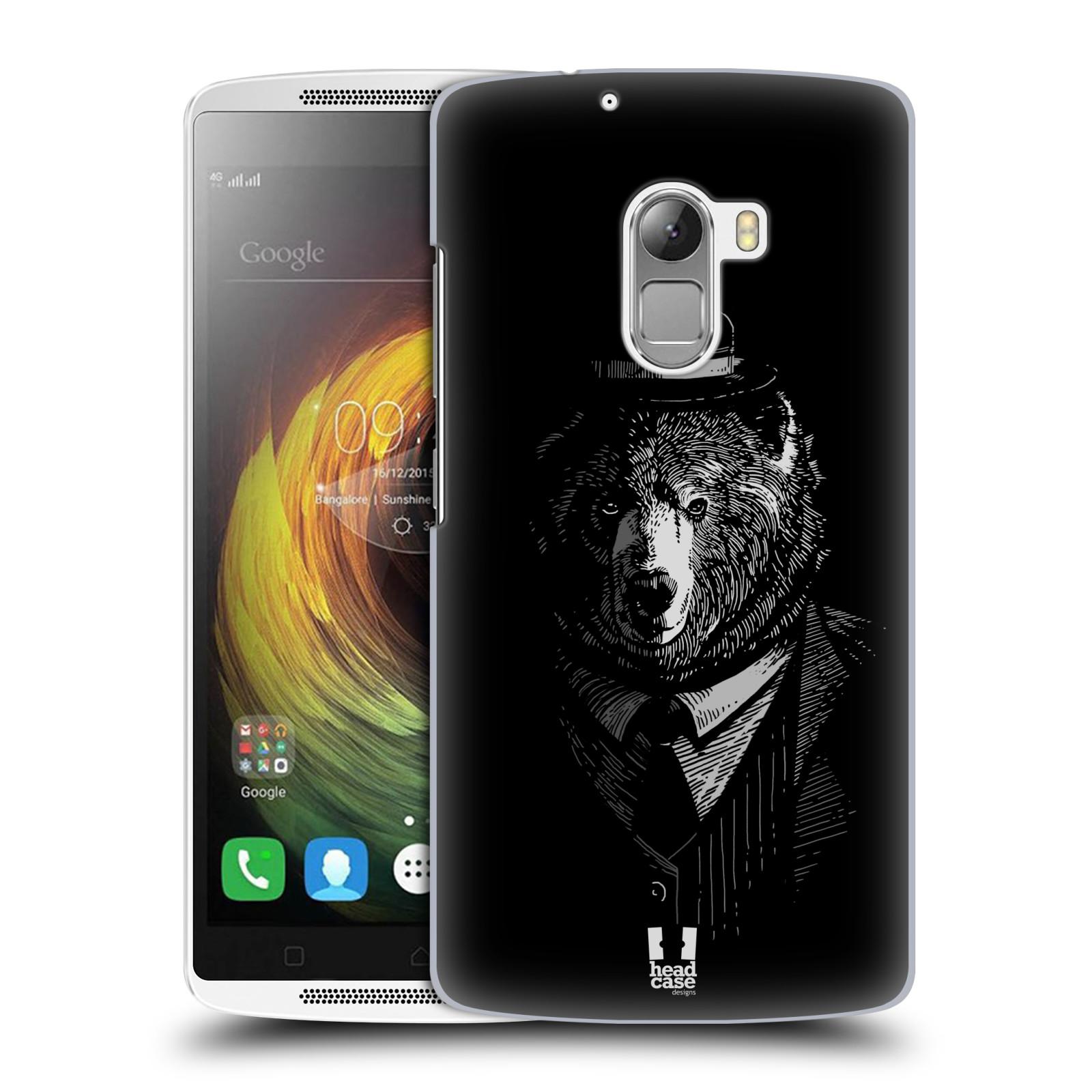 HEAD CASE pevný plastový obal na mobil LENOVO A7010 / A7010 DUAL / K4 Note / Vibe X3 lite vzor Zvíře v obleku medvěd