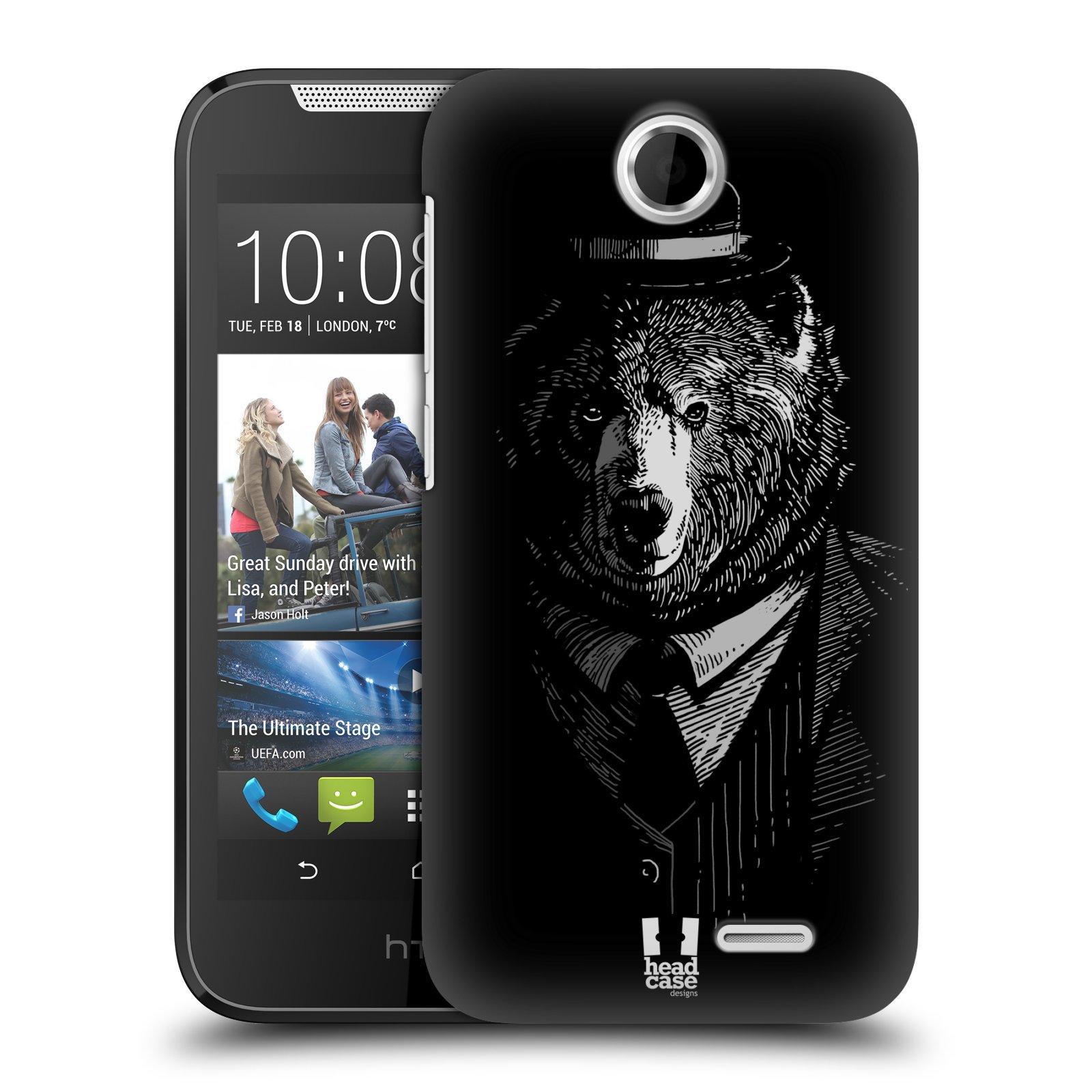HEAD CASE plastový obal na mobil HTC Desire 310 vzor Zvíře v obleku medvěd