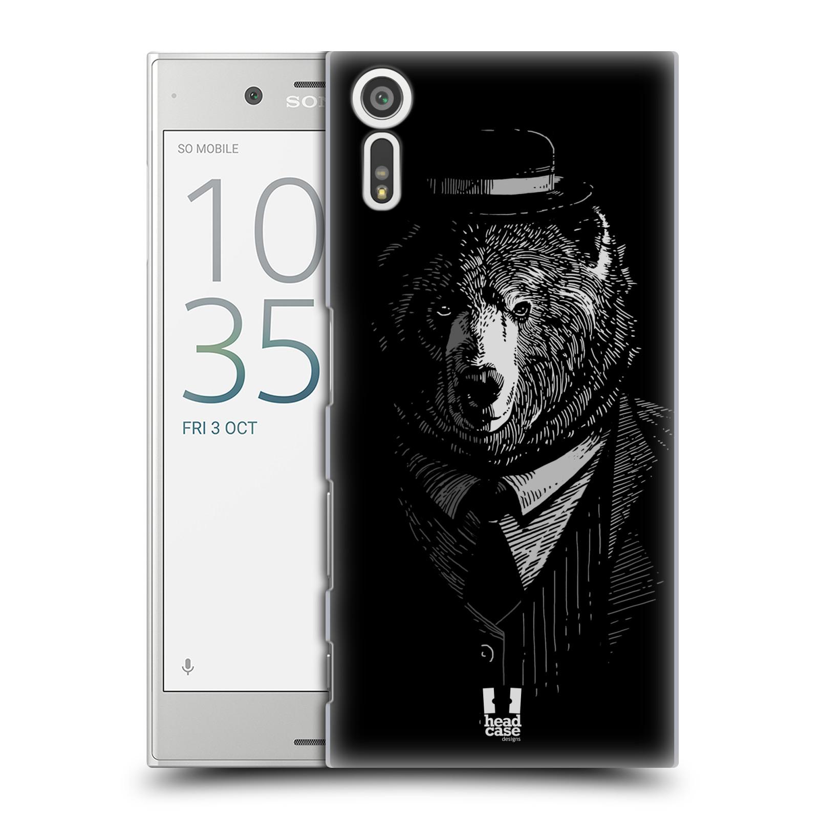 HEAD CASE plastový obal na mobil Sony Xperia XZ vzor Zvíře v obleku medvěd