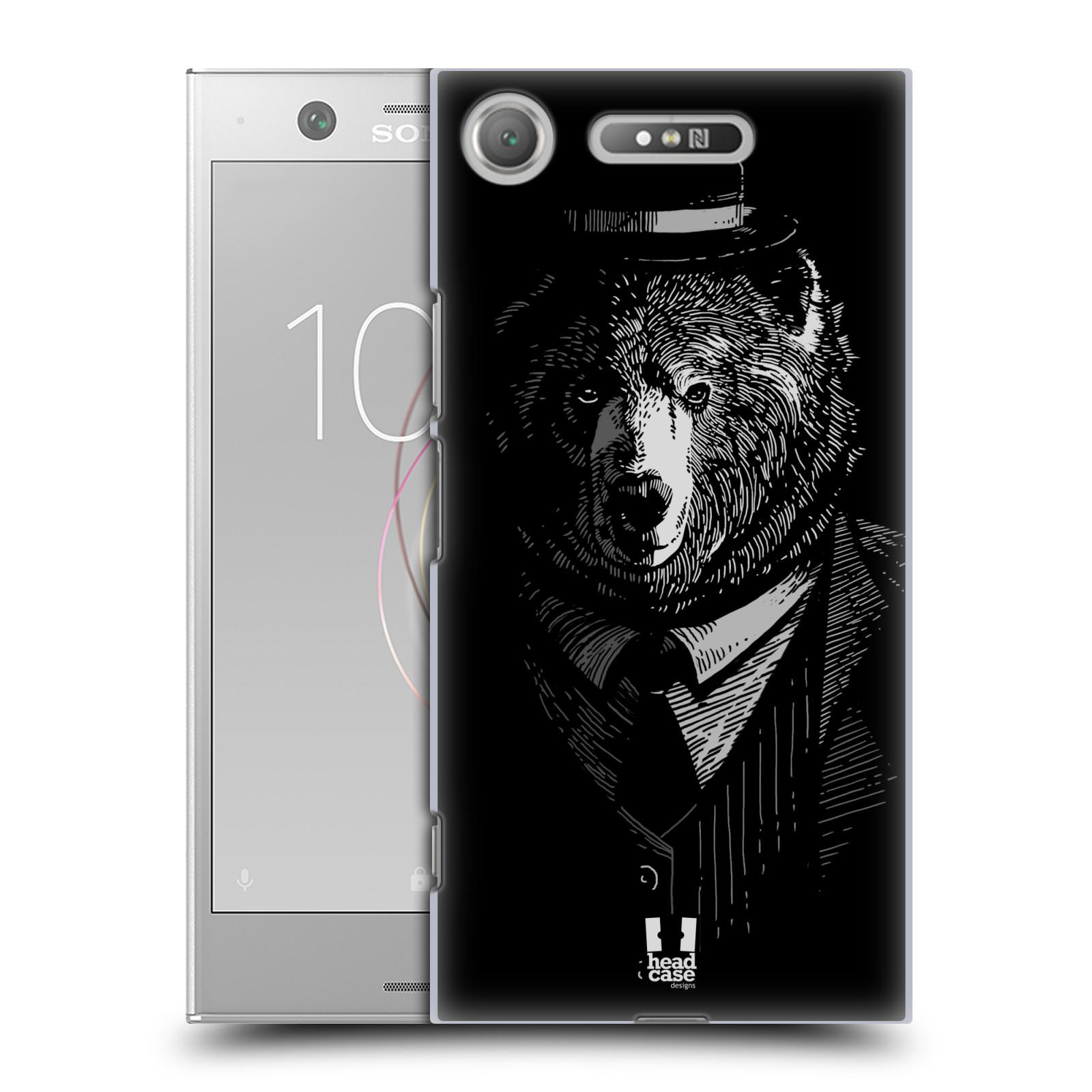 HEAD CASE plastový obal na mobil Sony Xperia XZ1 vzor Zvíře v obleku medvěd