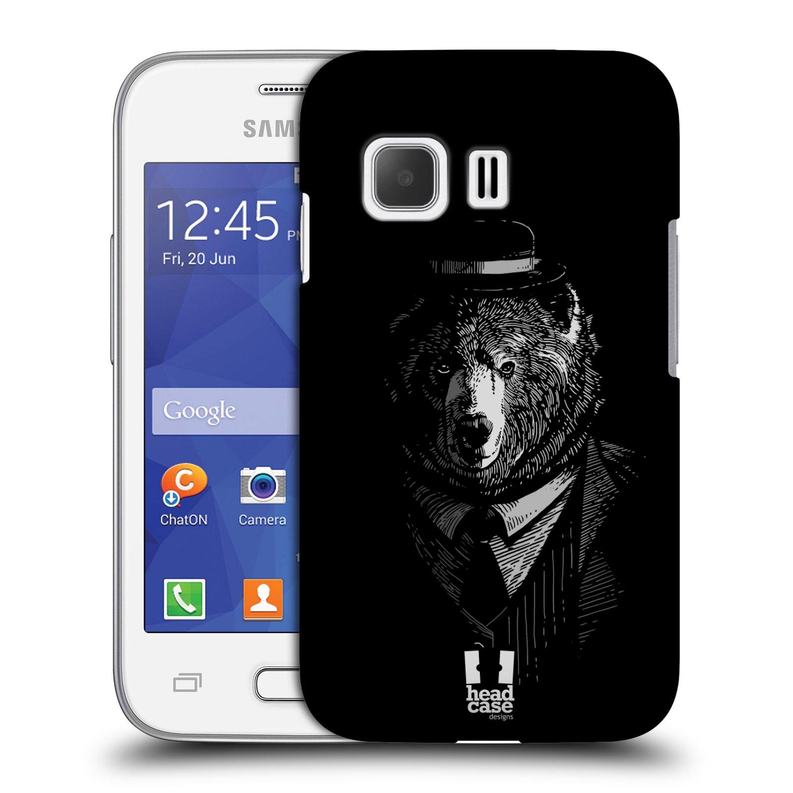 HEAD CASE plastový obal na mobil SAMSUNG Galaxy Young 2 (G130) vzor Zvíře v obleku medvěd