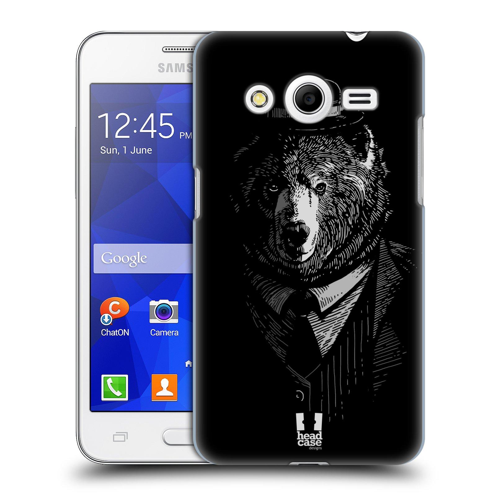 HEAD CASE plastový obal na mobil SAMSUNG GALAXY Core 2 (G355H) vzor Zvíře v obleku medvěd