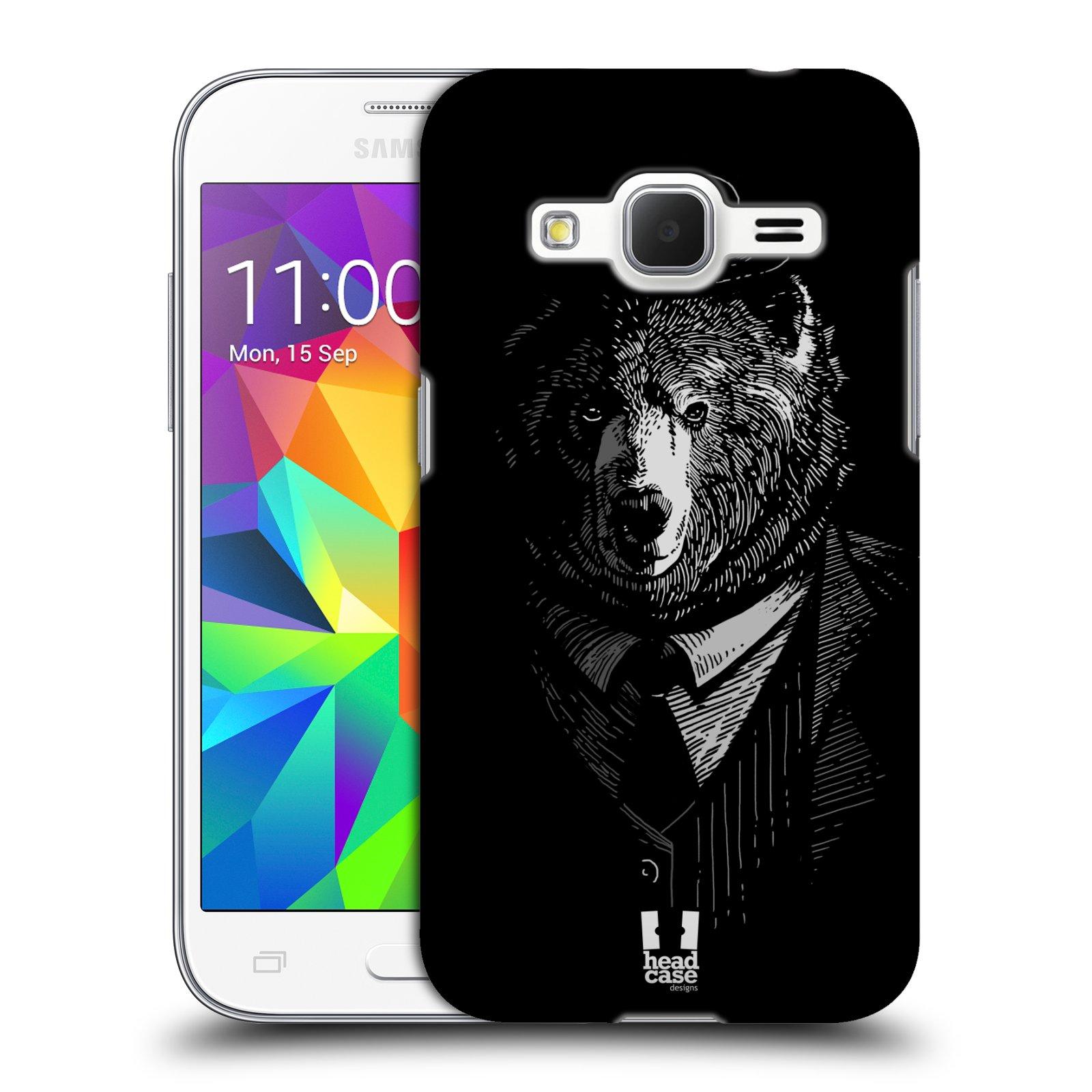 HEAD CASE plastový obal na mobil SAMSUNG GALAXY Core Prime (Core Prime VE) vzor Zvíře v obleku medvěd