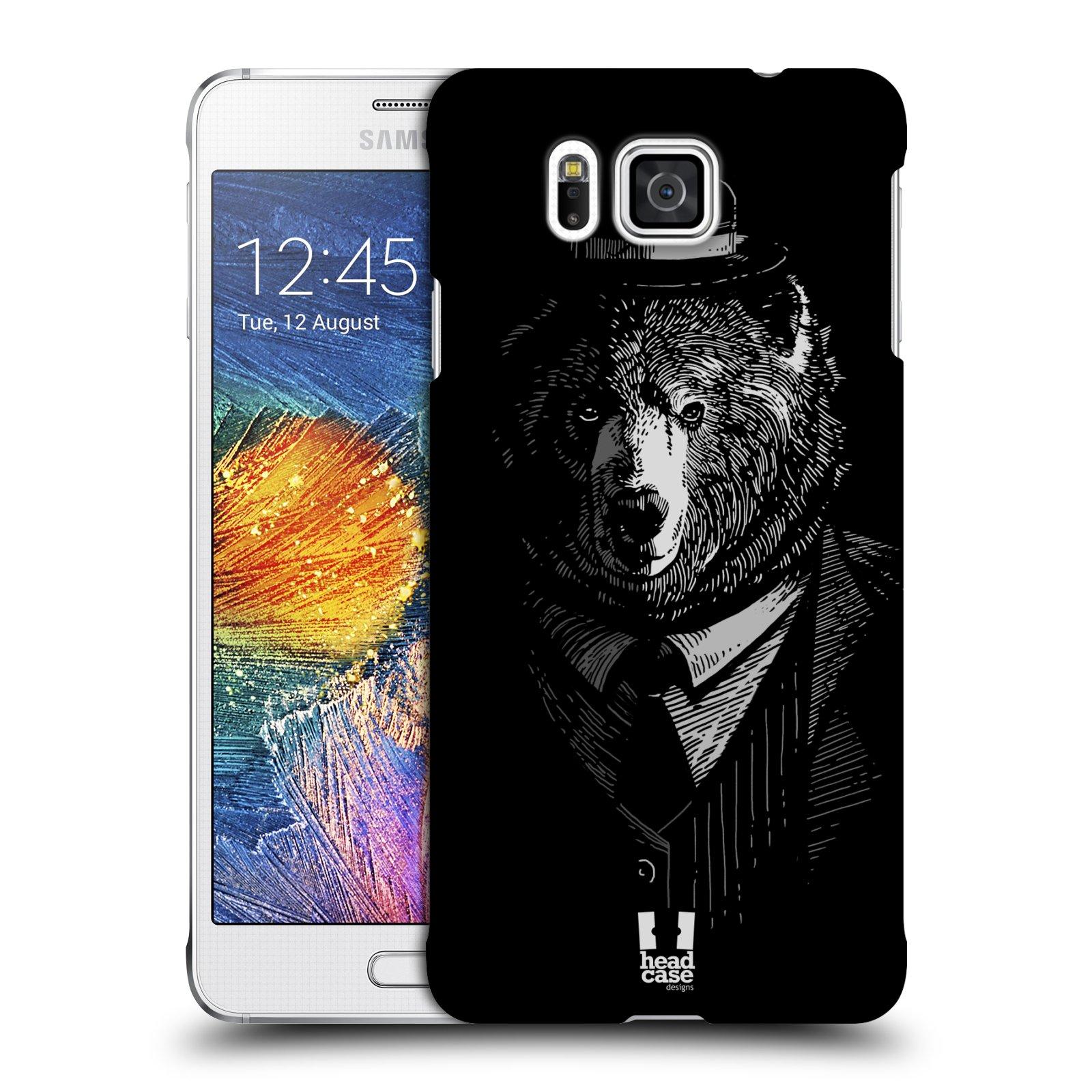 HEAD CASE plastový obal na mobil SAMSUNG Galaxy Alpha (G850) vzor Zvíře v obleku medvěd