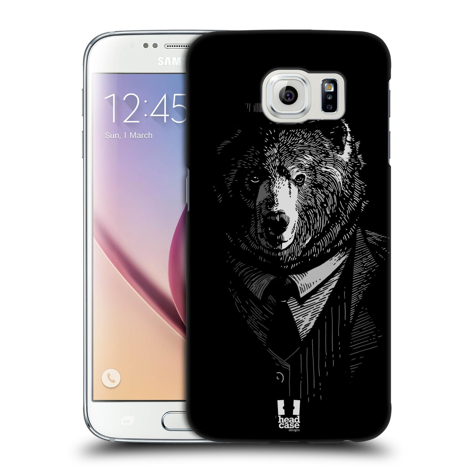 HEAD CASE plastový obal na mobil SAMSUNG Galaxy S6 (G9200, G920F) vzor Zvíře v obleku medvěd