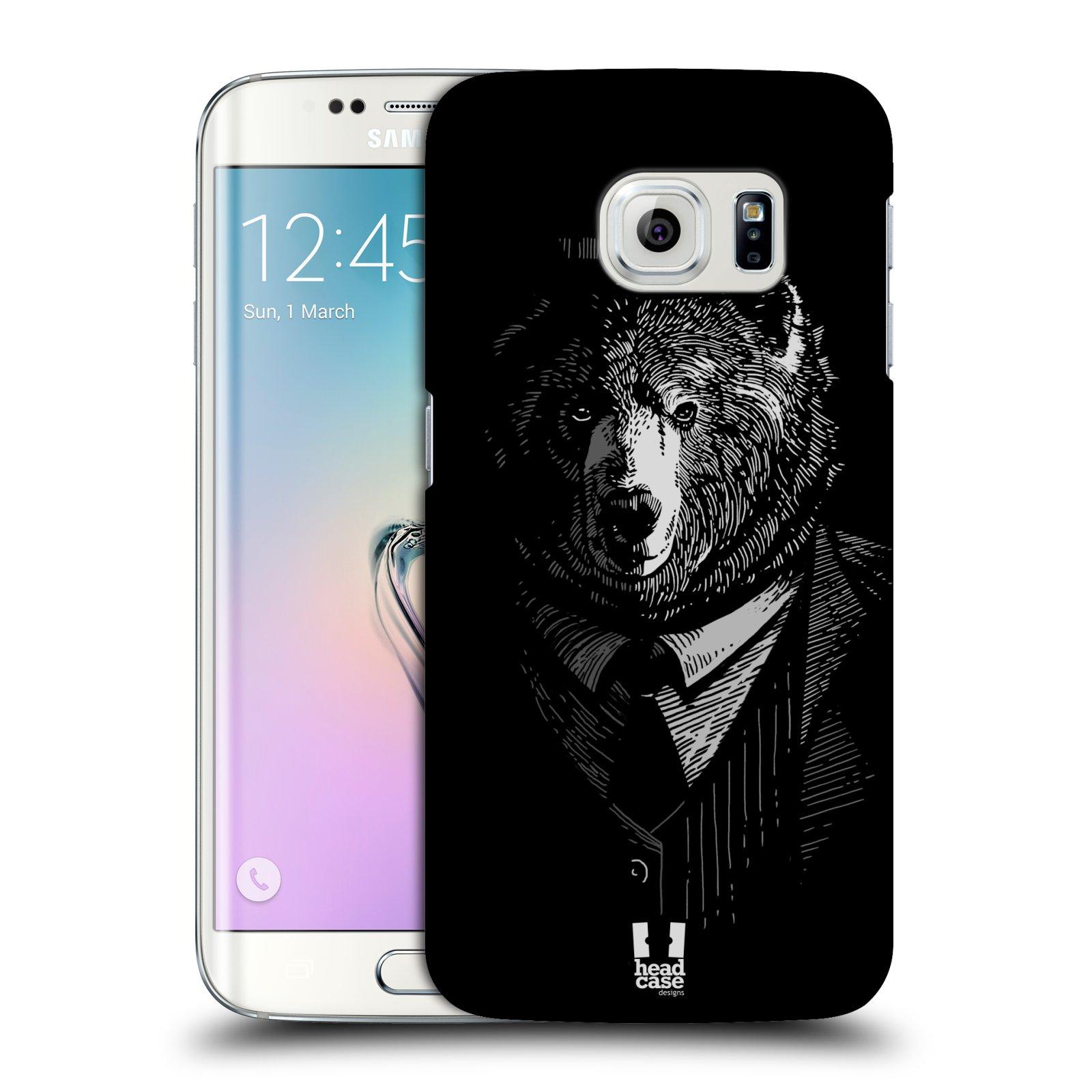 HEAD CASE plastový obal na mobil SAMSUNG Galaxy S6 EDGE (G9250, G925, G925F) vzor Zvíře v obleku medvěd