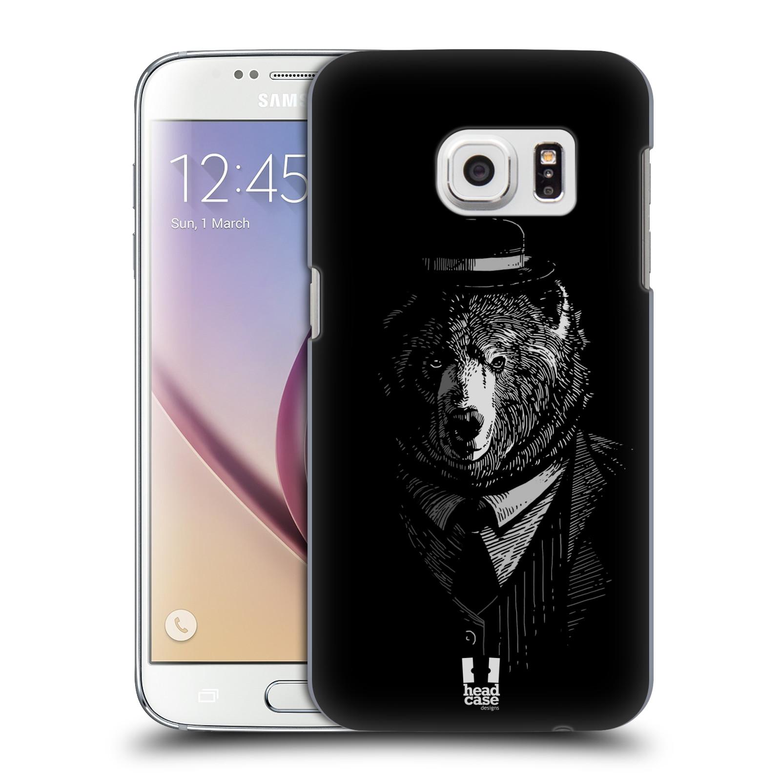 HEAD CASE plastový obal na mobil SAMSUNG GALAXY S7 vzor Zvíře v obleku medvěd