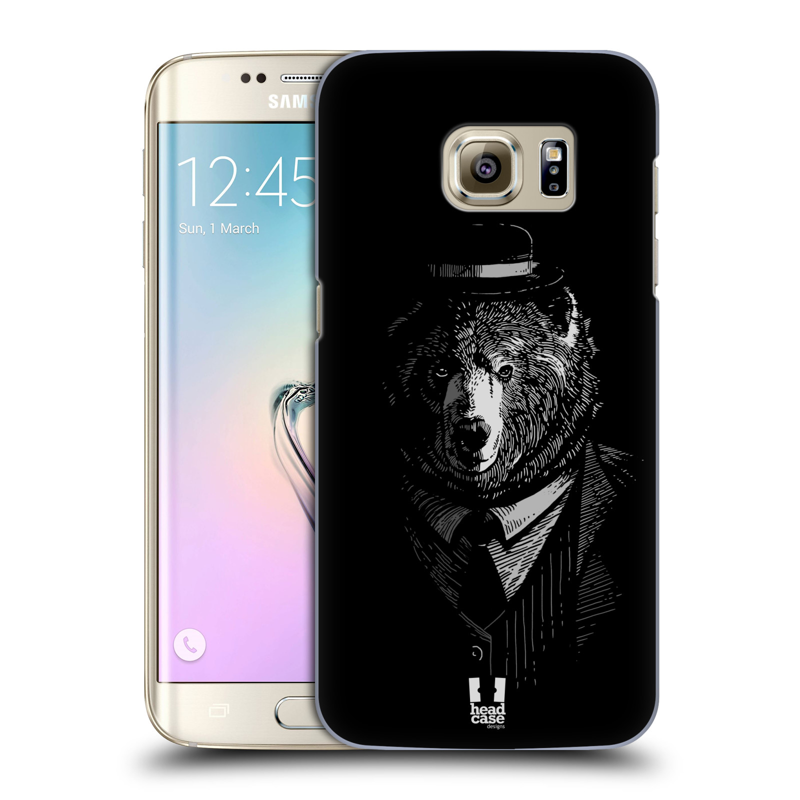 HEAD CASE plastový obal na mobil SAMSUNG GALAXY S7 EDGE vzor Zvíře v obleku medvěd