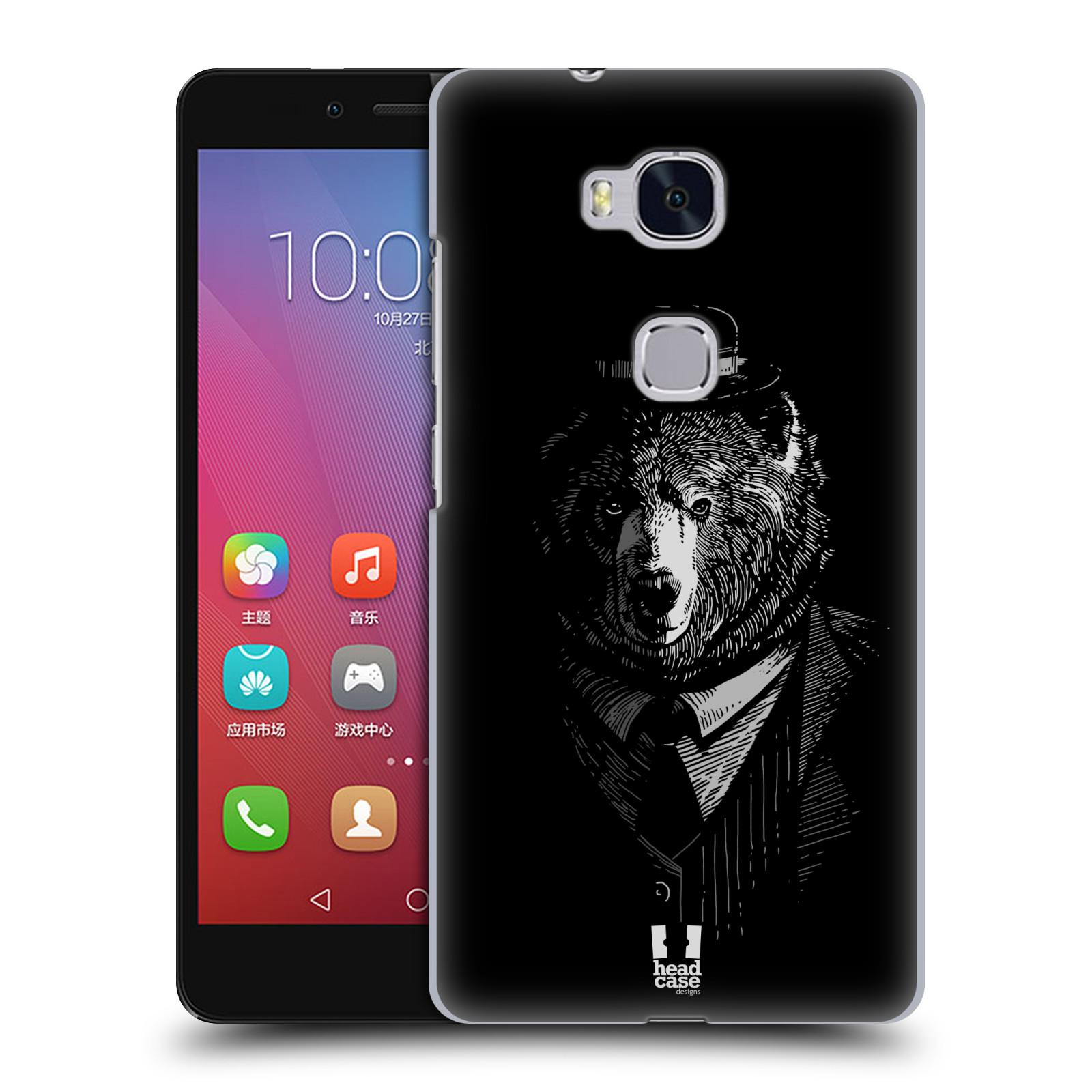 HEAD CASE pevný plastový obal na mobil HUAWEI HONOR 5X vzor Zvíře v obleku medvěd