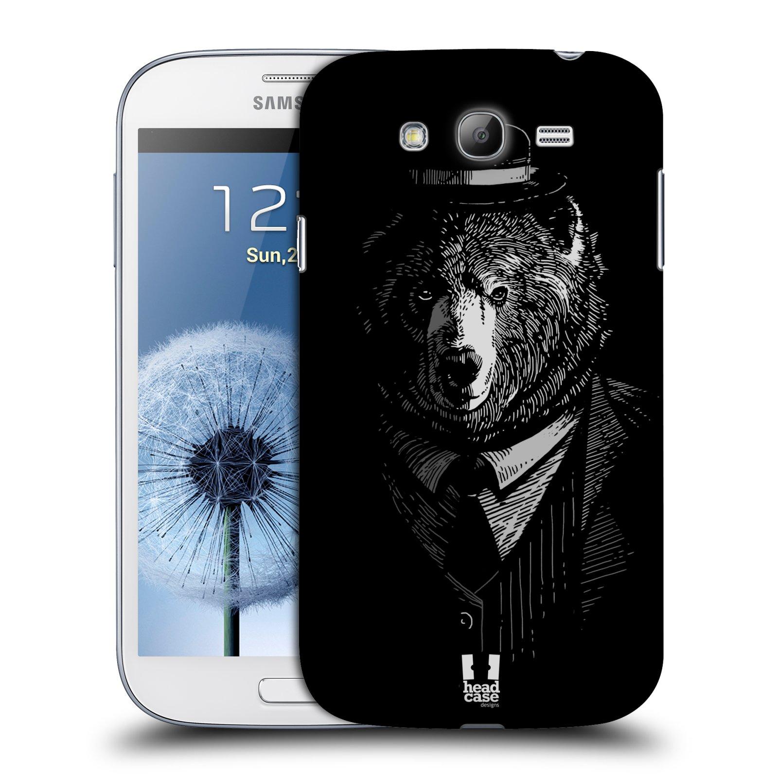 HEAD CASE plastový obal na mobil SAMSUNG GALAXY Grand i9080 vzor Zvíře v obleku medvěd
