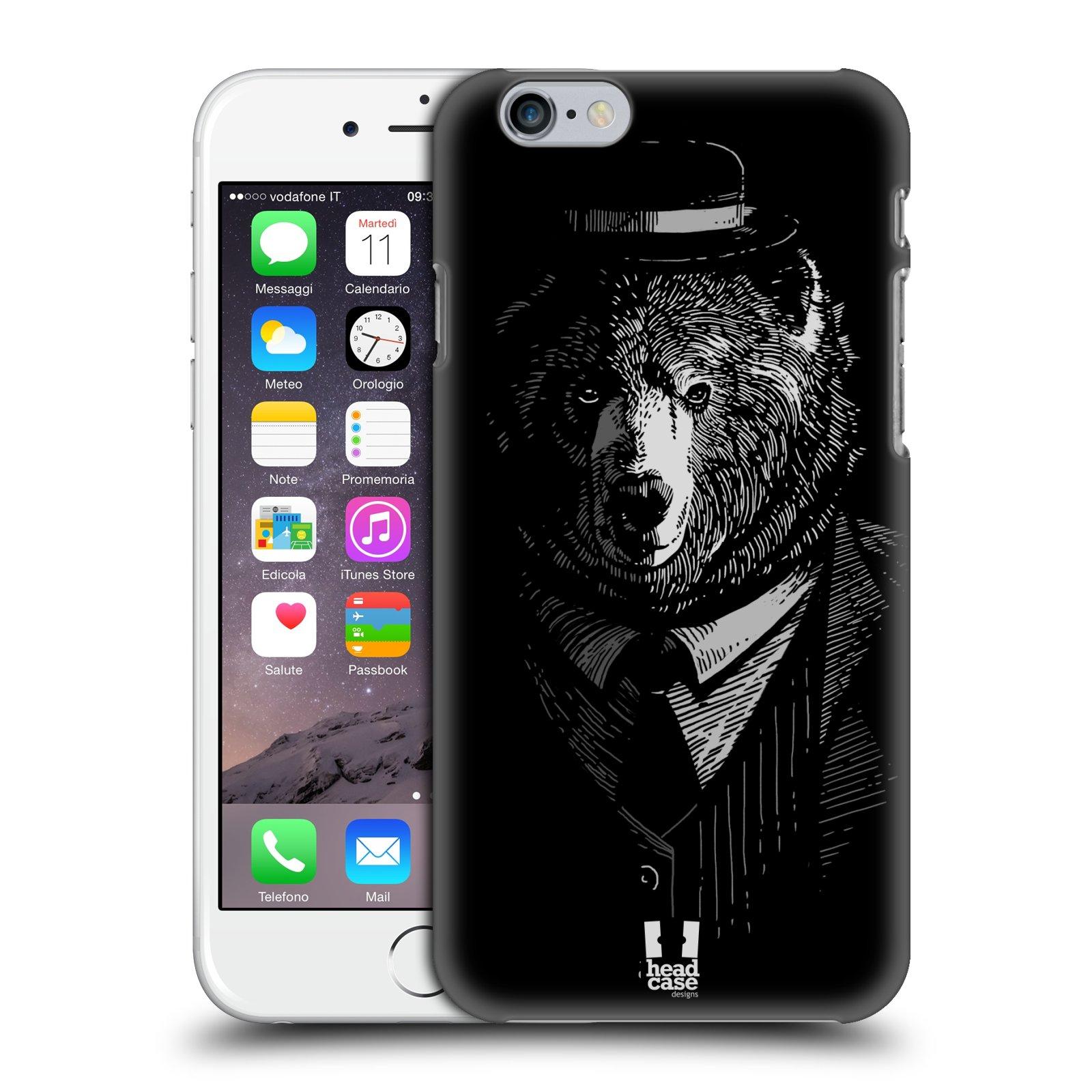 Plastové pouzdro pro mobil Apple Iphone 6/6S vzor Zvíře v obleku medvěd