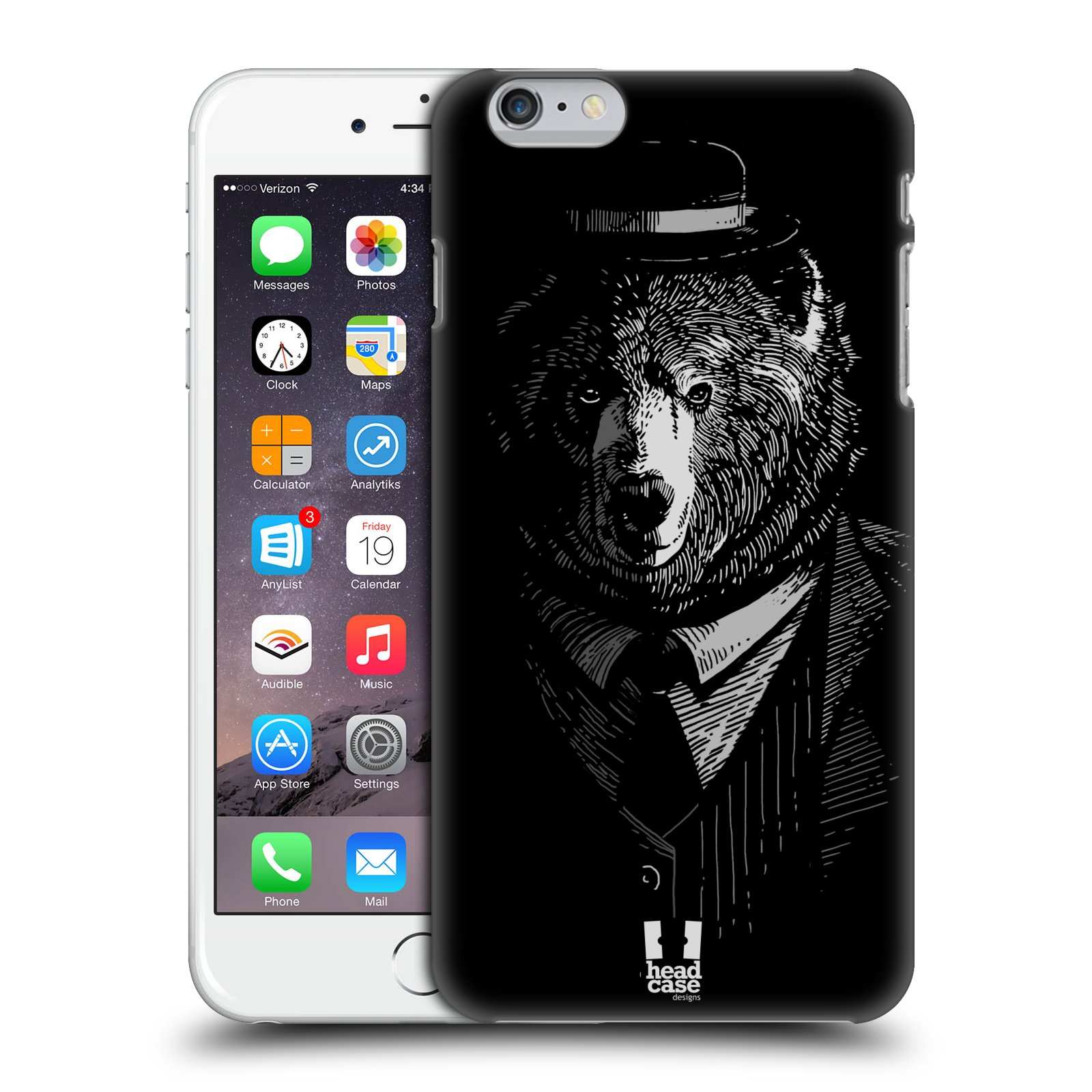 Plastové pouzdro pro mobil Apple Iphone 6 PLUS / 6S PLUS vzor Zvíře v obleku medvěd