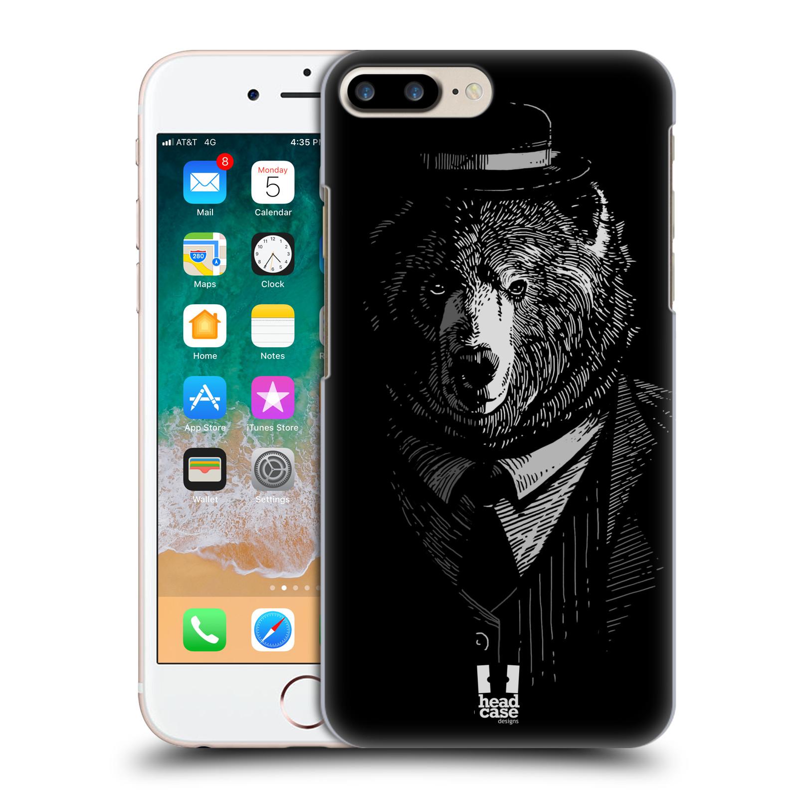HEAD CASE plastový obal na mobil Apple Iphone 7 PLUS vzor Zvíře v obleku medvěd