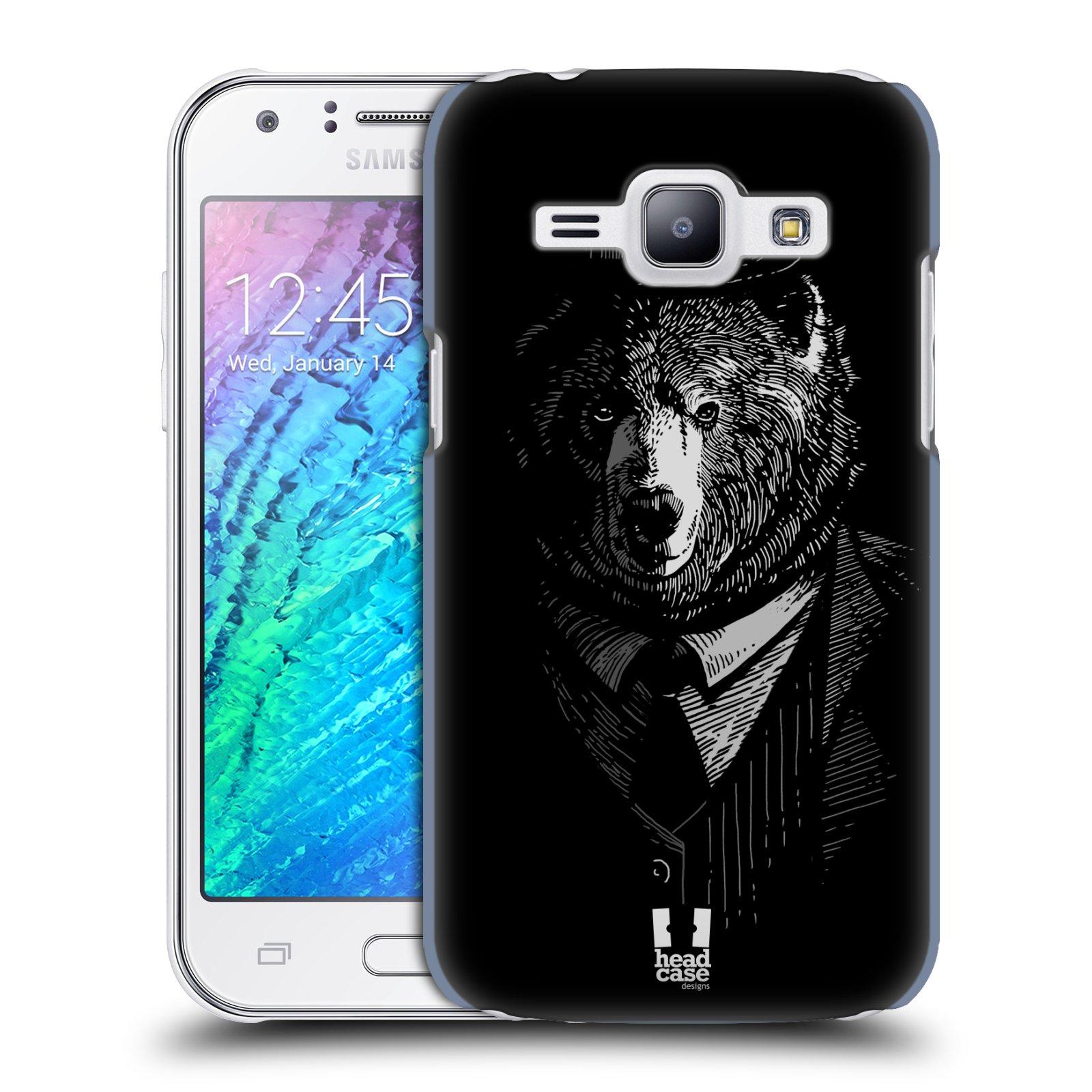 HEAD CASE plastový obal na mobil SAMSUNG Galaxy J1, J100 vzor Zvíře v obleku medvěd