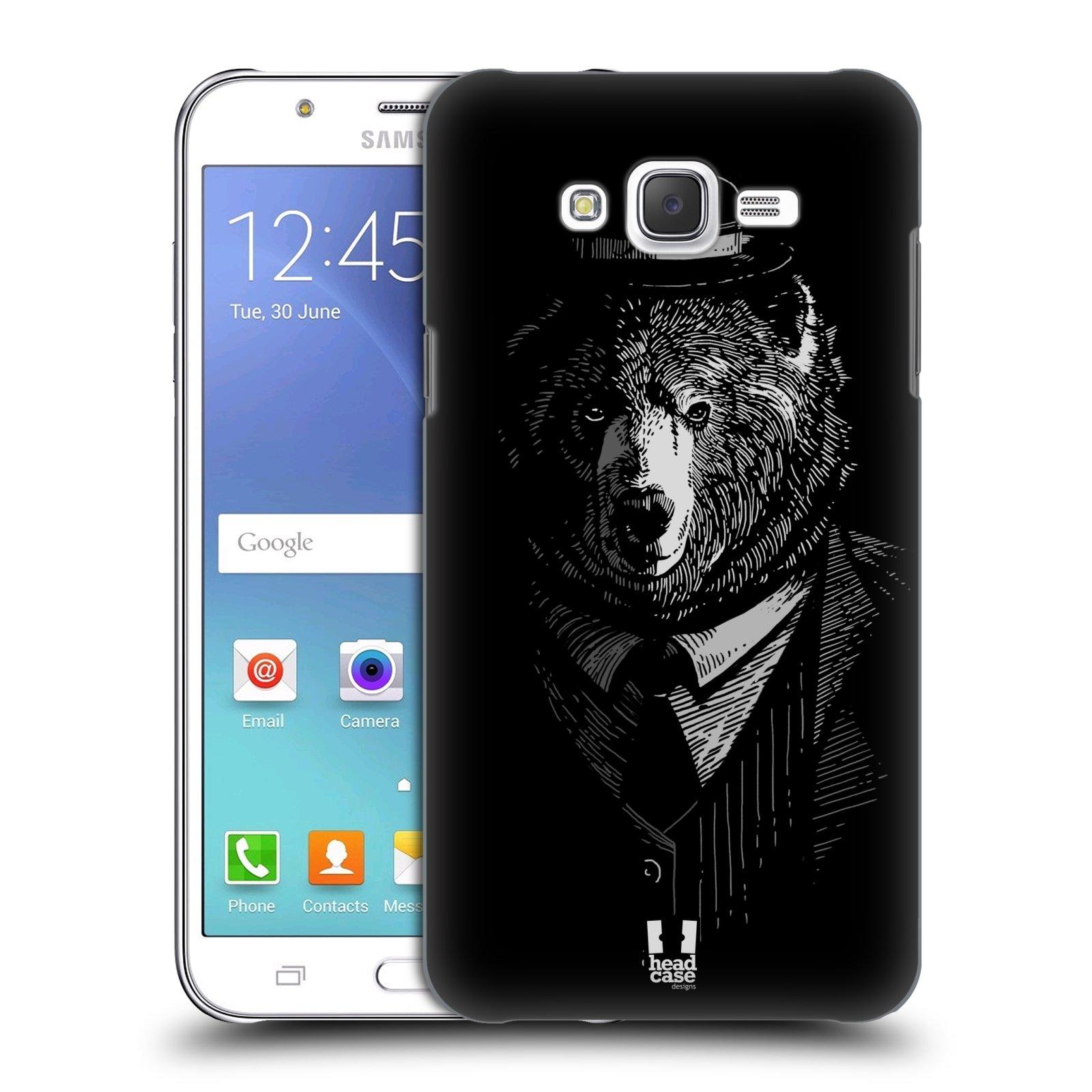 HEAD CASE plastový obal na mobil SAMSUNG Galaxy J7, J700 vzor Zvíře v obleku medvěd