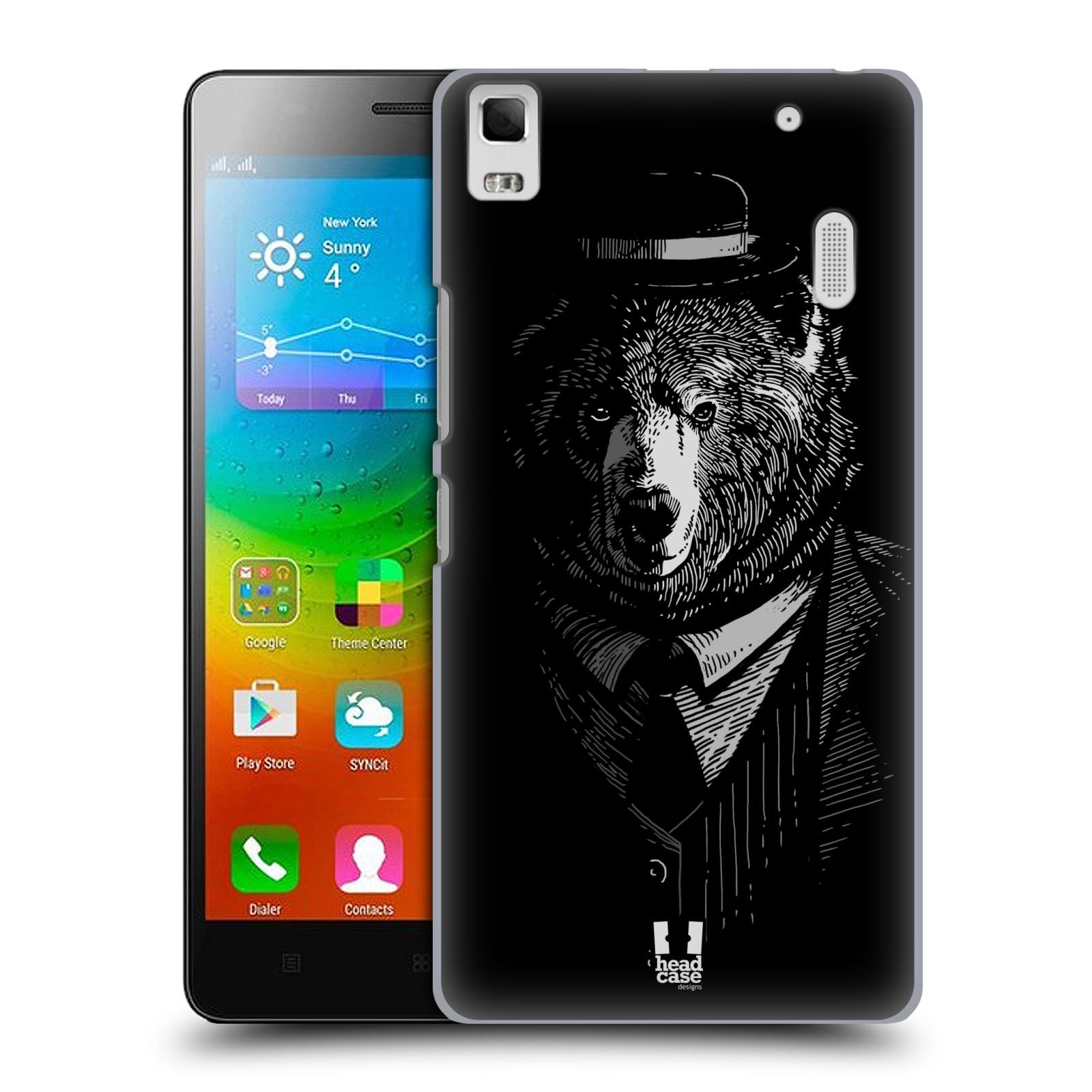 HEAD CASE pevný plastový obal na mobil LENOVO A7000 / A7000 DUAL / K3 NOTE vzor Zvíře v obleku medvěd